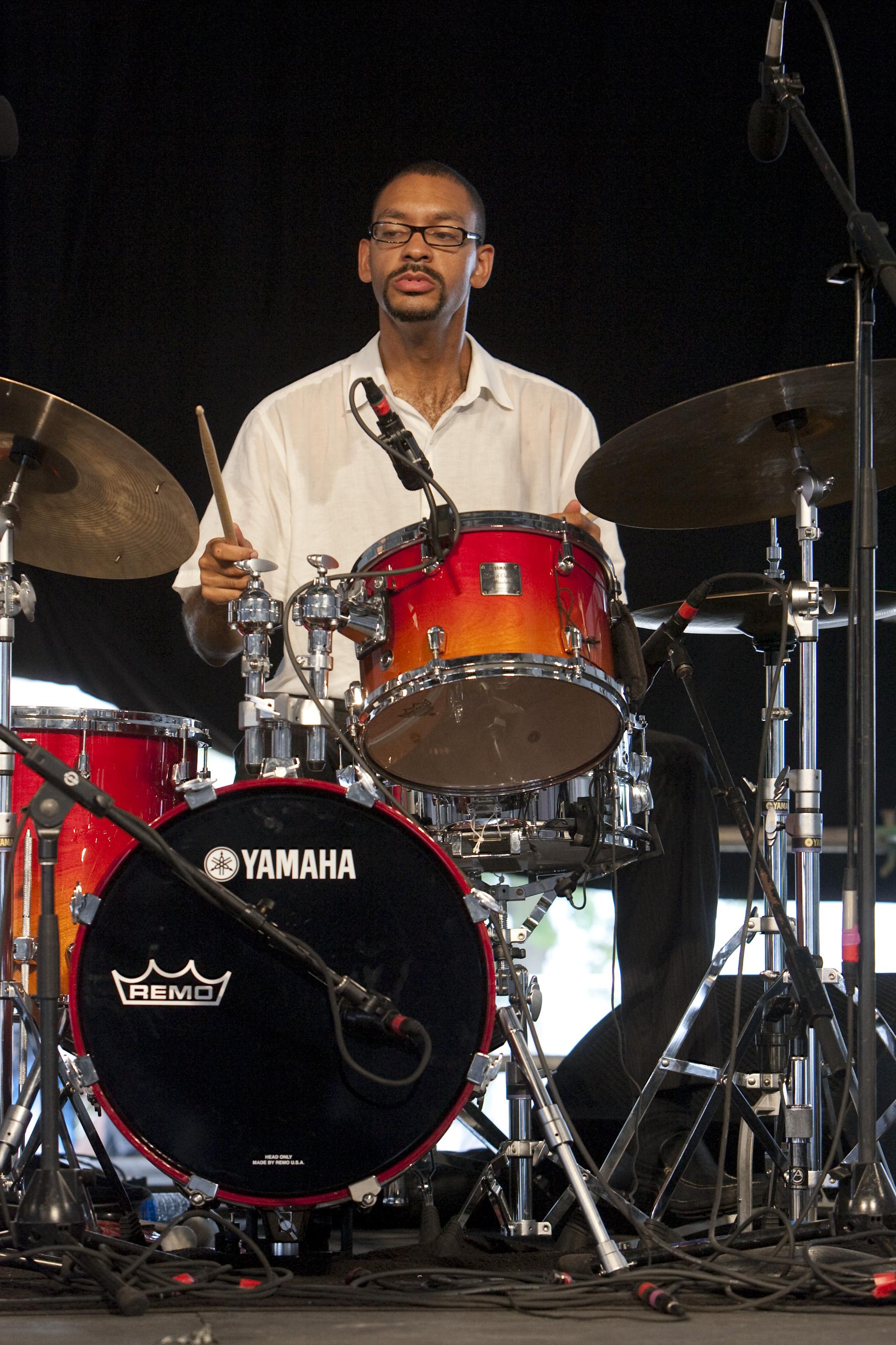 Jason Marsalis at the 40th Anniversary New Orleans Jazz & Heritage Festival, USA