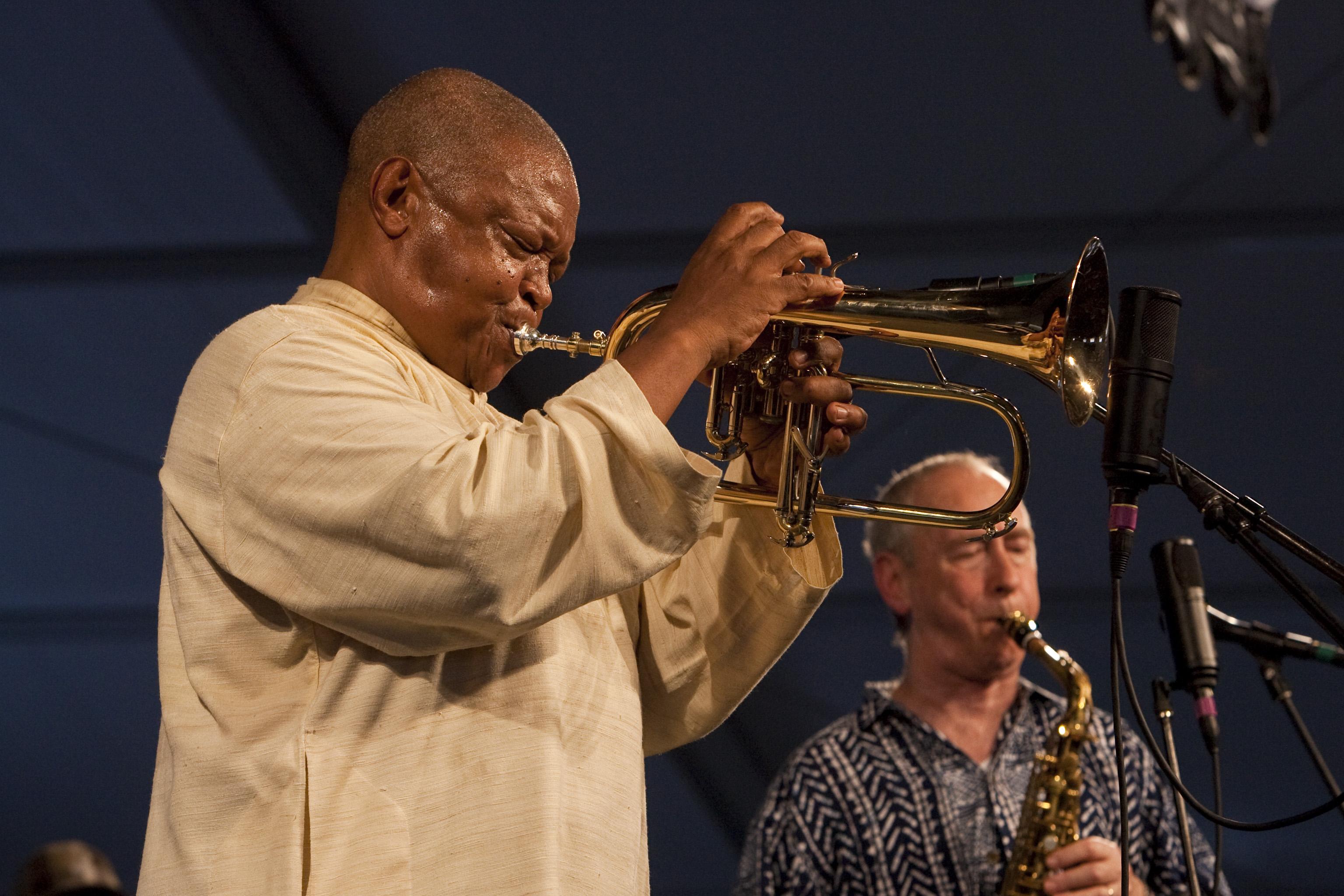 Hugh Masekela at the 40th Anniversary New Orleans Jazz & Heritage Festival, USA