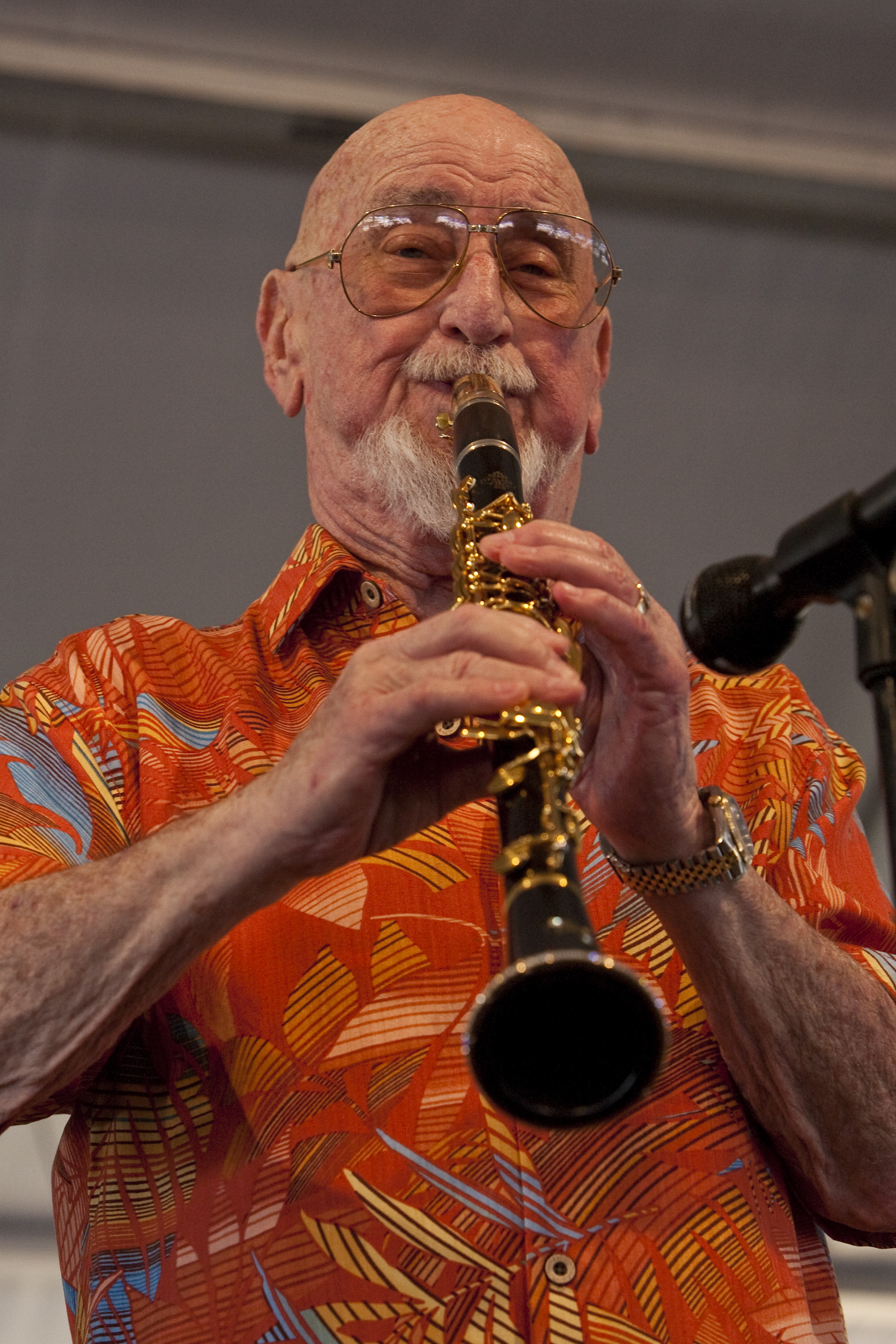 Pete Fountain at the 40th Anniversary New Orleans Jazz and Heritage Festival, USA