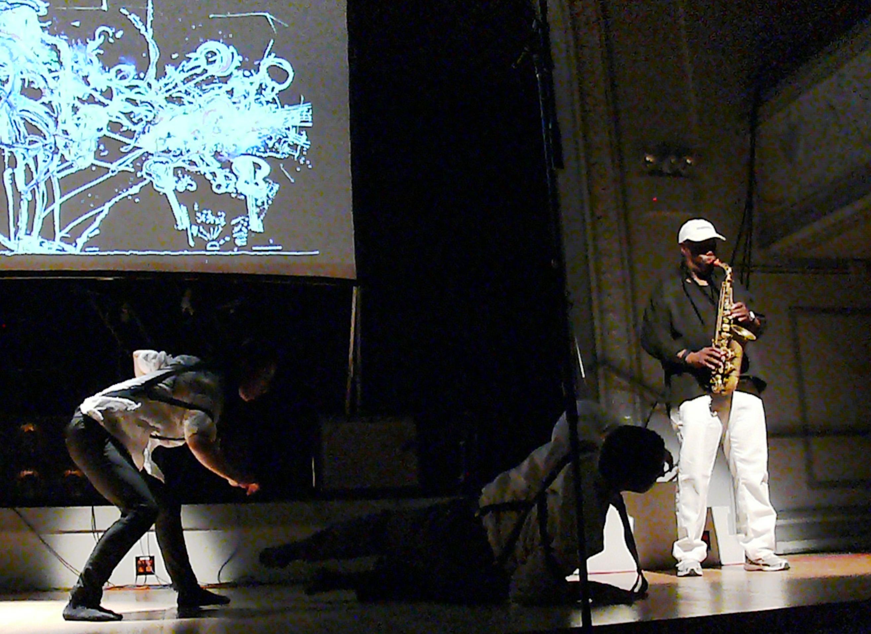 Joe McPhee and Jason Jordan's Knocknock at the Vision Festival, NYC in June 2012