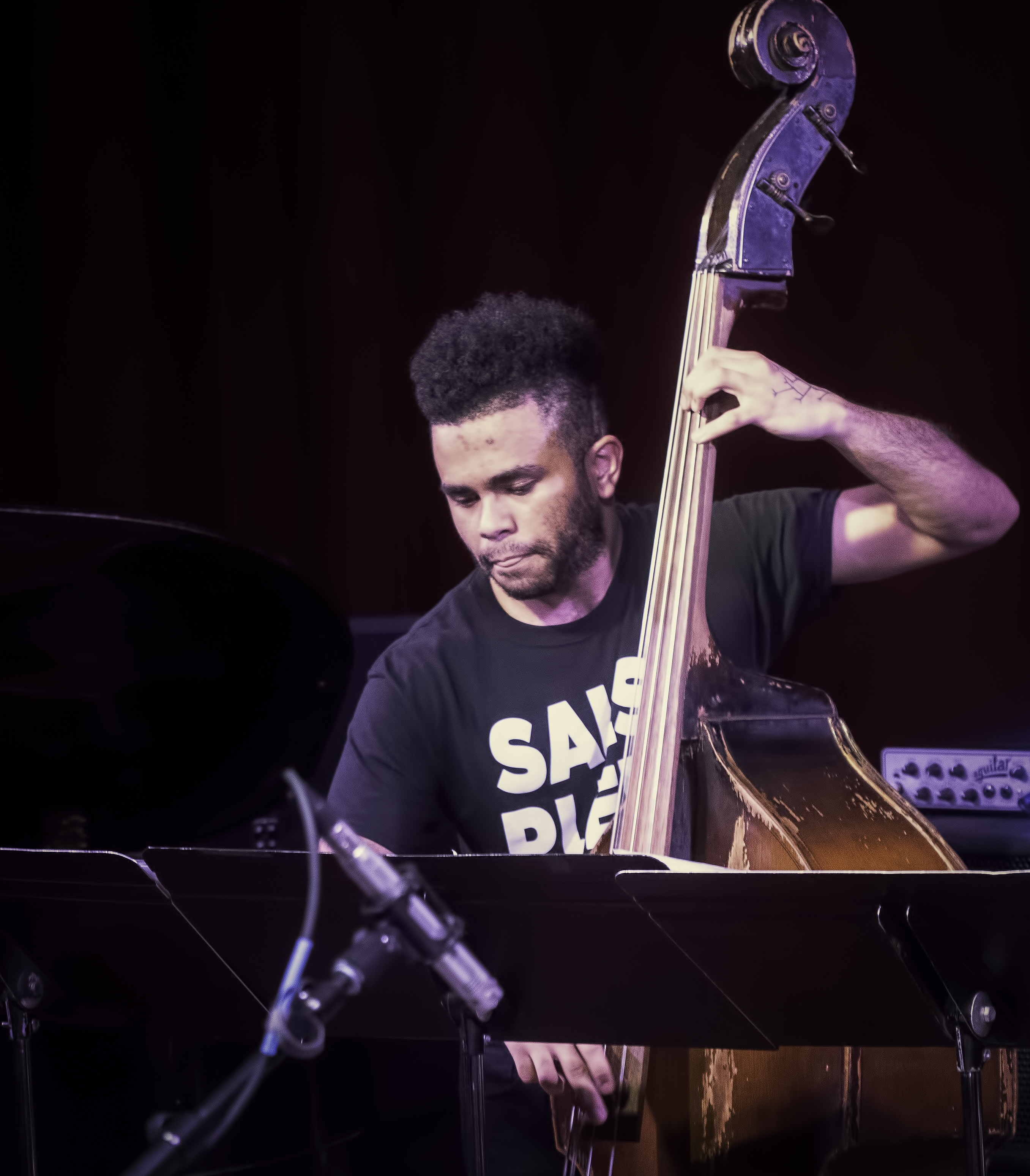 Nick Dunston with the Tyshawn Sorey Sextet at the NYC Jazz Gallery