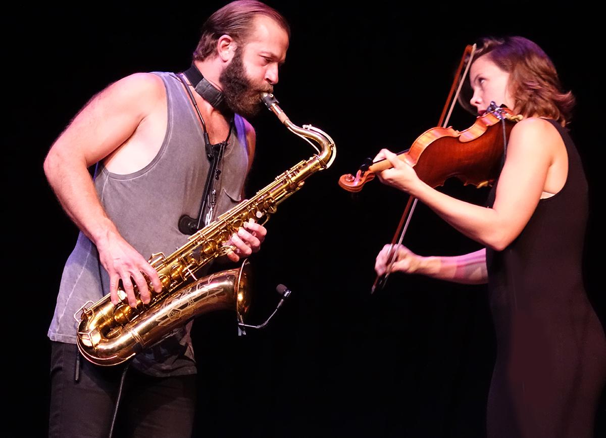 Colin Stetson & Sarah Neufeld at Guelph Jazz Festival 2015