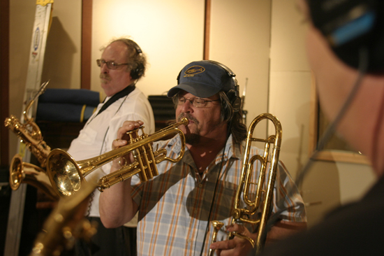Tony Adamo Recording Session with Top Horns