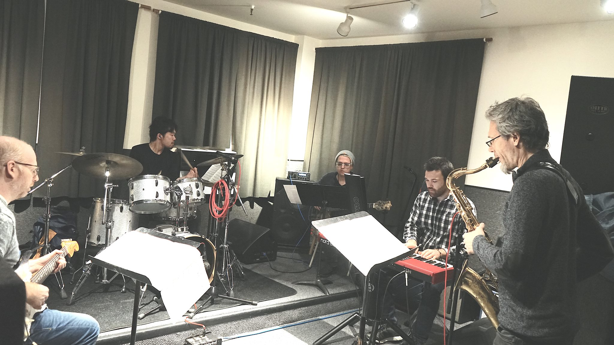"Rehearsal for recording session of album""H&Ms"""