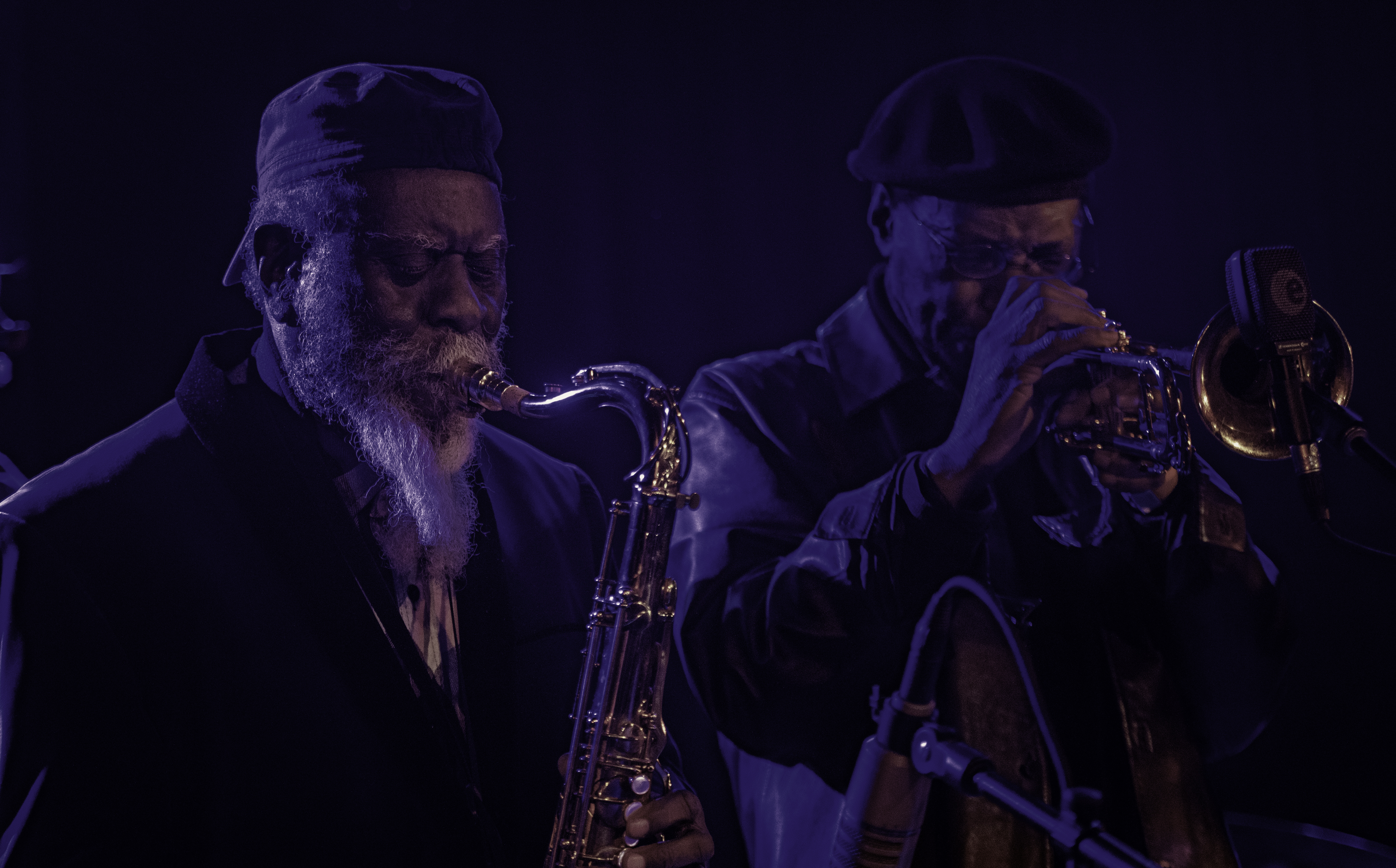 Pharoah Sanders and Charles Tolliver with Gary Bartz Celebrating the 50th Anniversary of 'Another Earth' at the NYC Winter Jazzfest 2019
