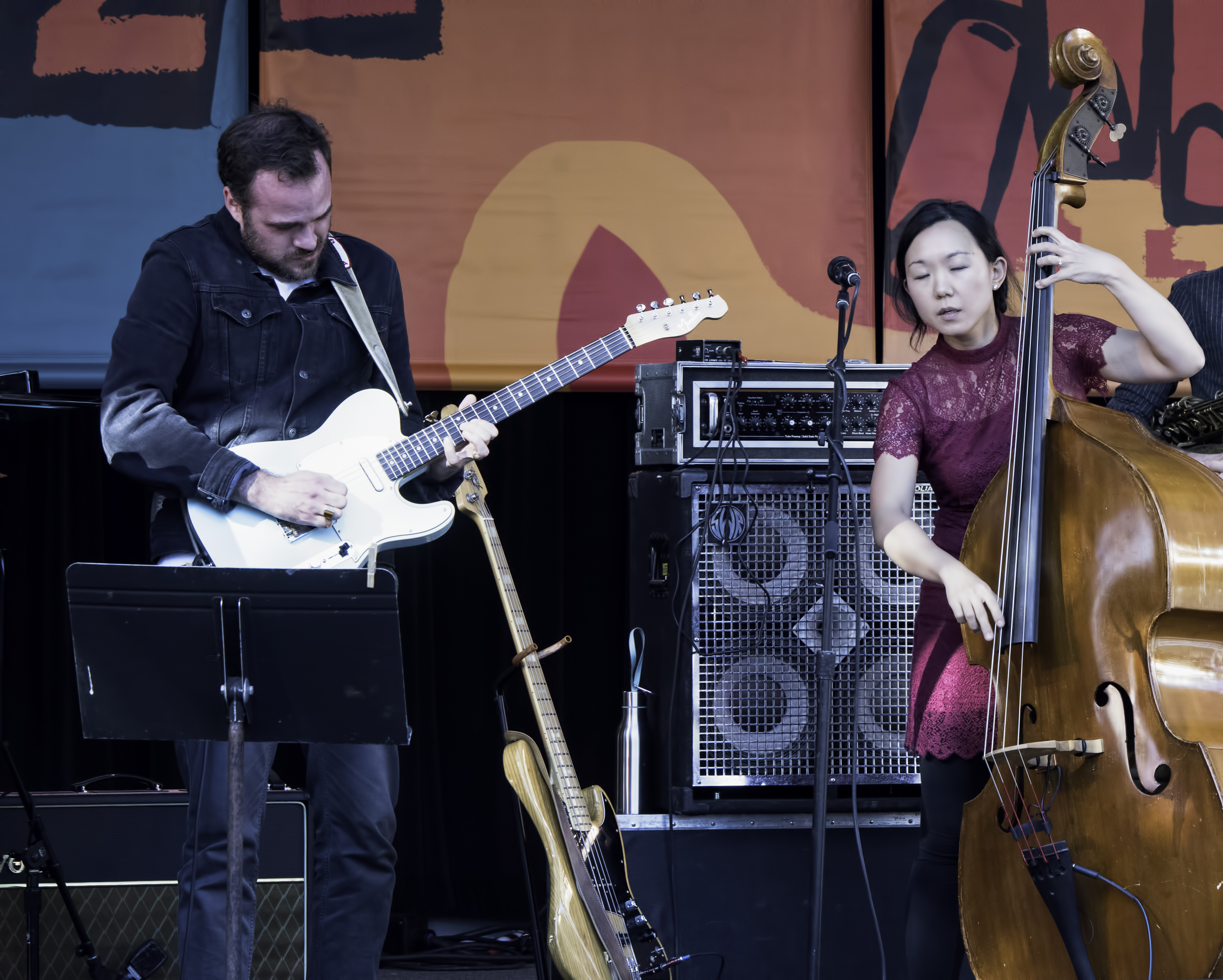 Matthew Stevens and Linda May Han Oh at the Monterey Jazz Festival