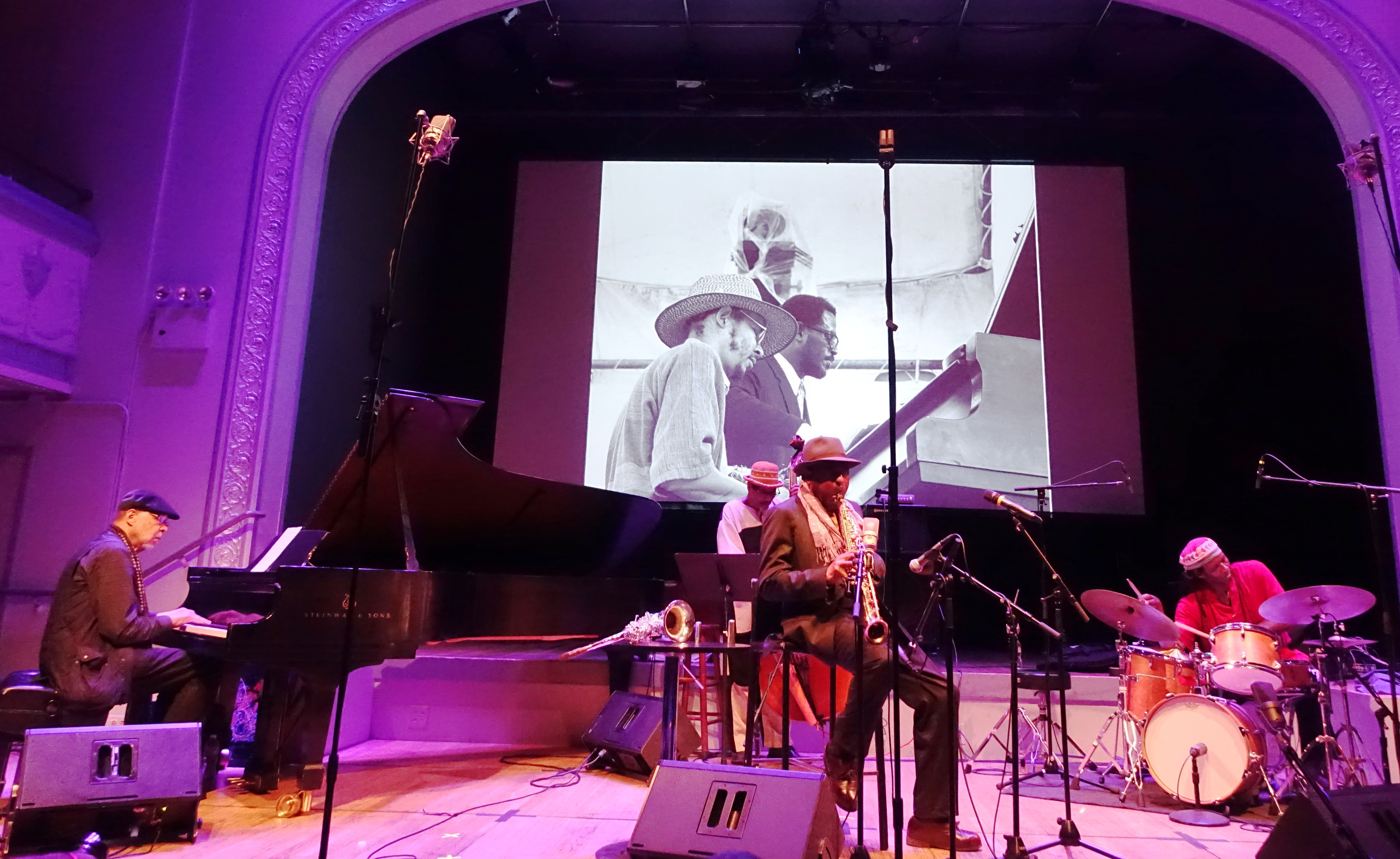 Archie Shepp Quartet at Roulette, Brooklyn in May 2018