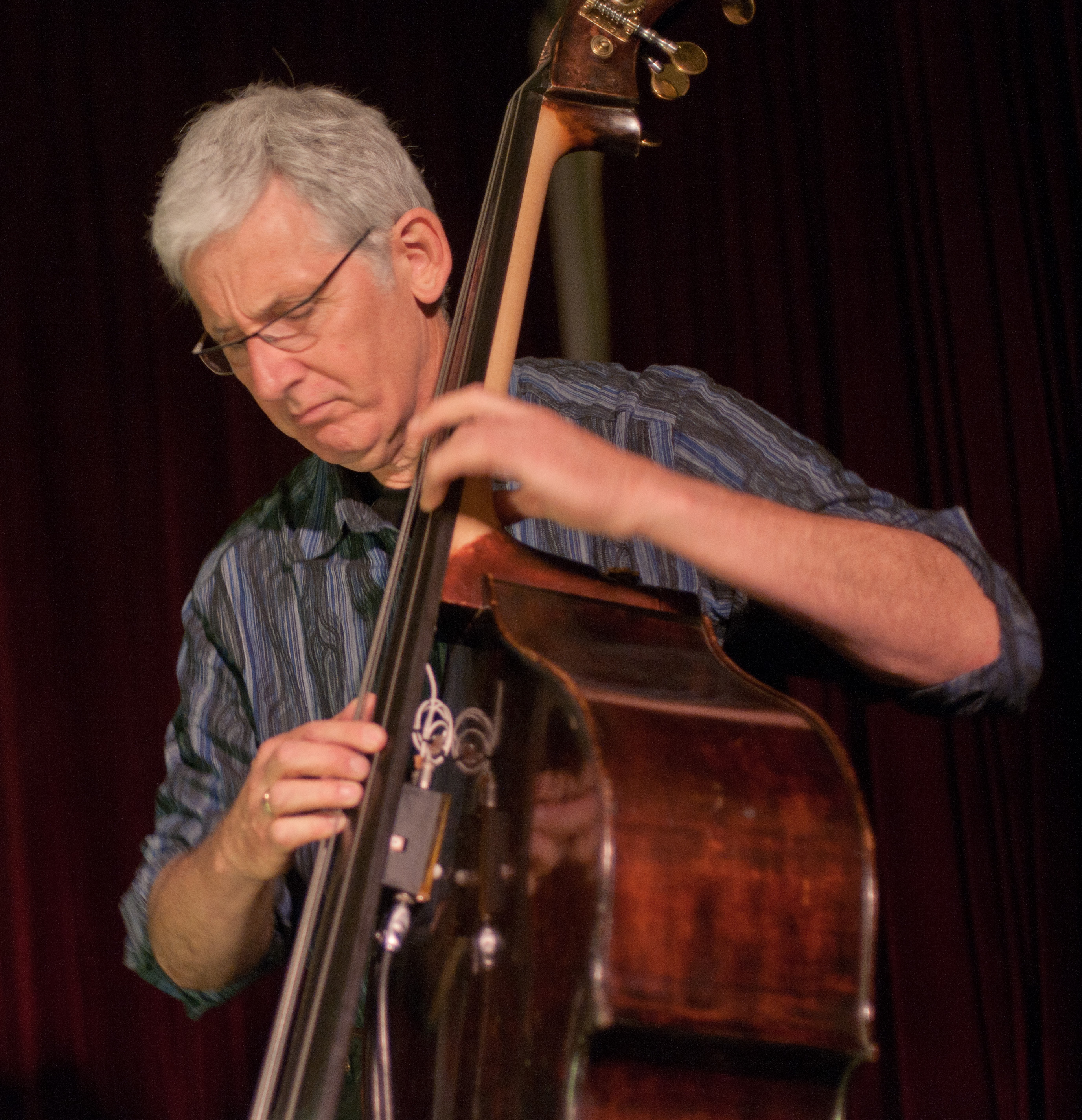 Marc Dresser with Jen Shyu at the Jazz Gallery