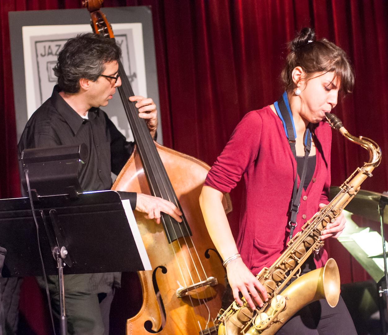 Joseph Lepore and Melissa Aldana with Quartet at the Jazz Gallery