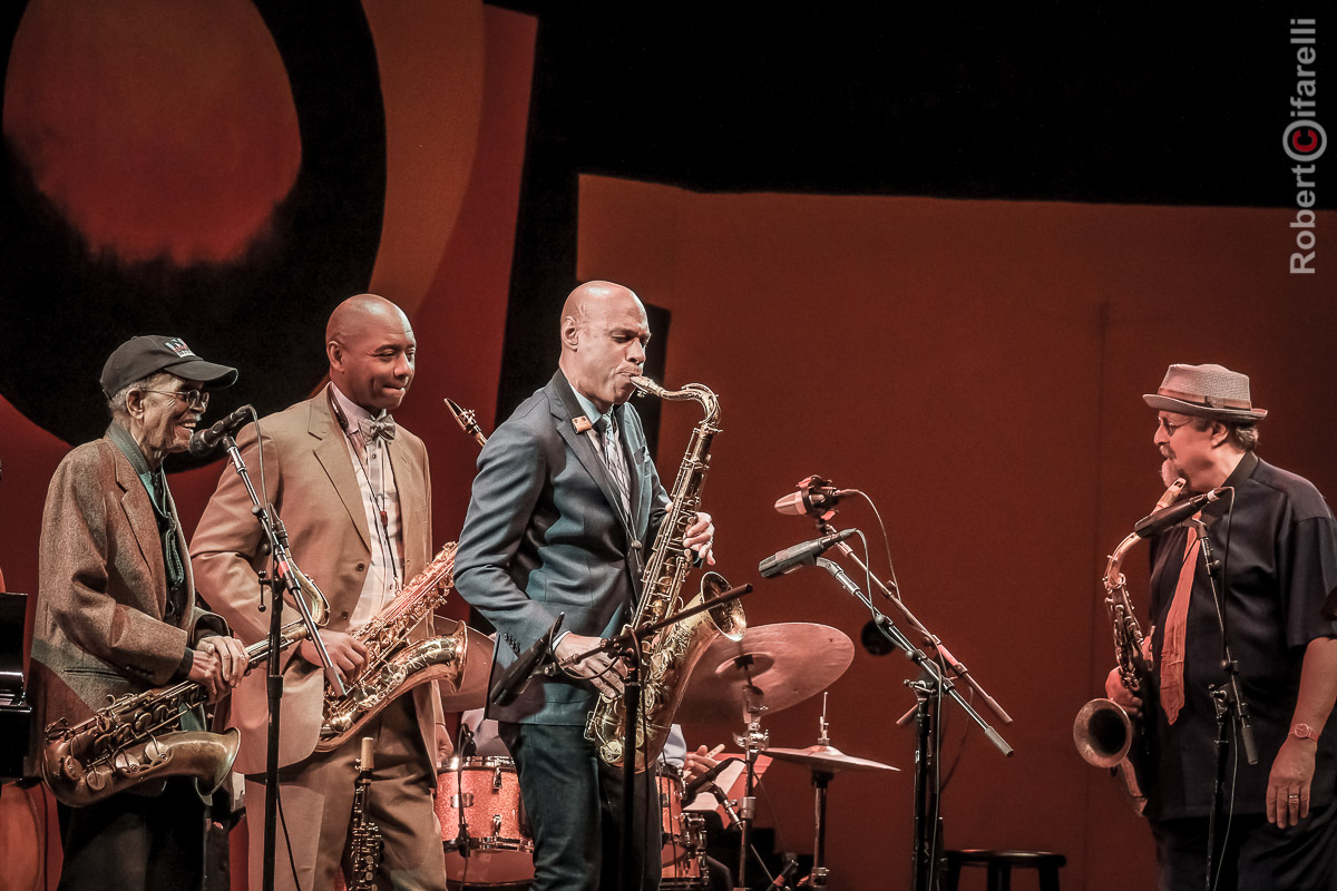 Jimmy Heath, Branford Marsalis, Joshua Redman, Joe Lovano - 60th Monterey Jazz Festival, 2017