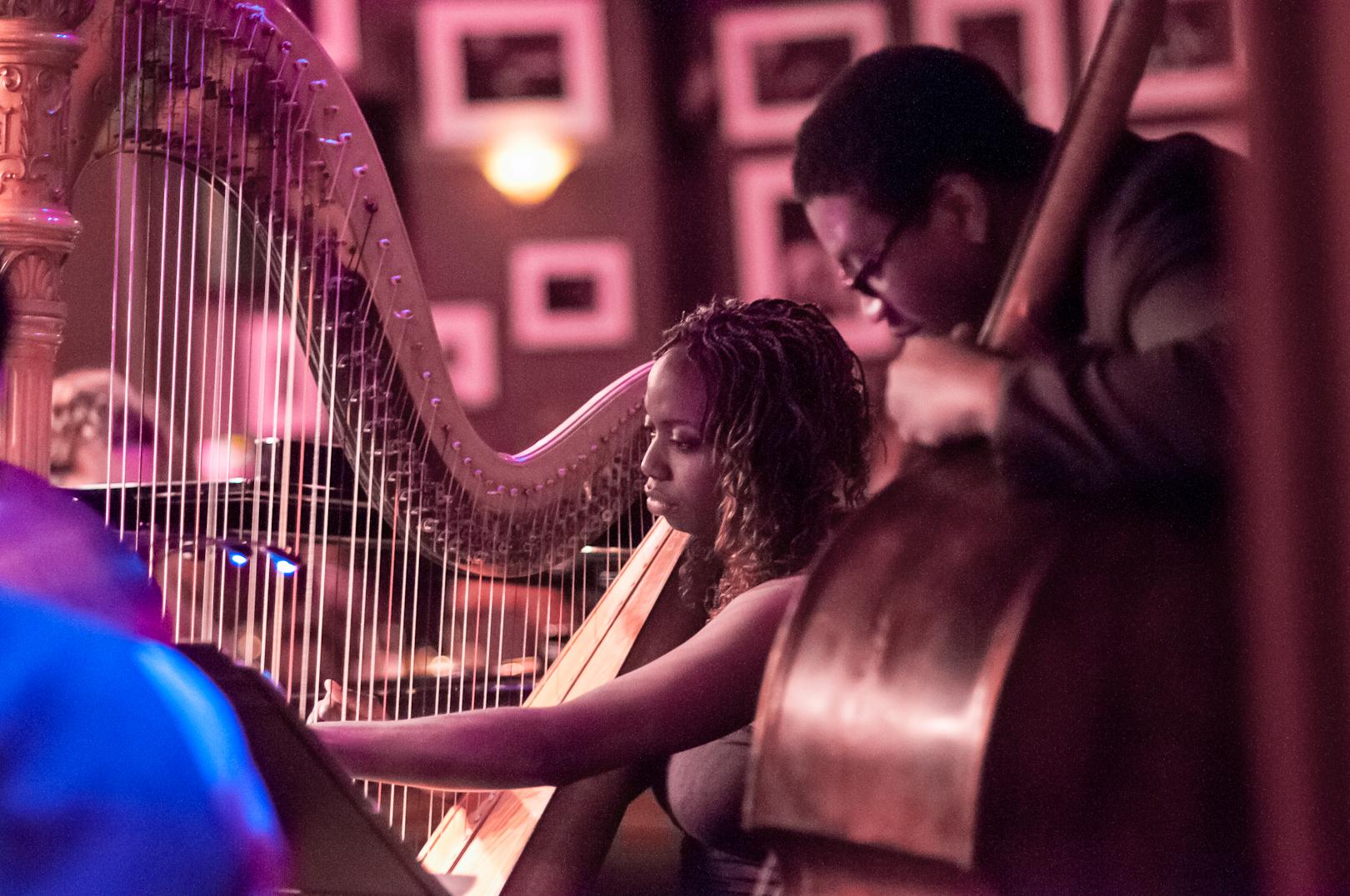 Brandee Younger and Dezron Douglas with the Ravi Coltrane Quartet at Birdland