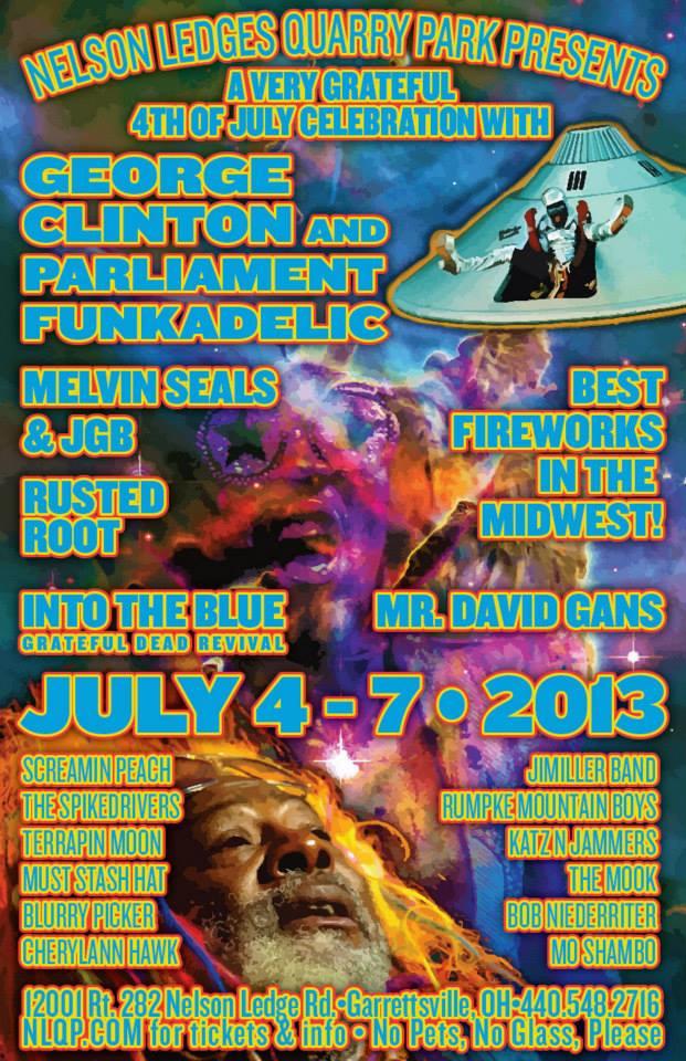 Nelson ledges 4th of july festival poster