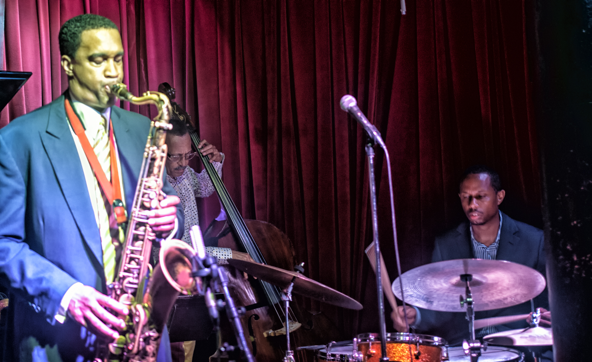 Javon Jackson, David Williams and Willie Jones Iii at Smoke Jazz Club in New York City