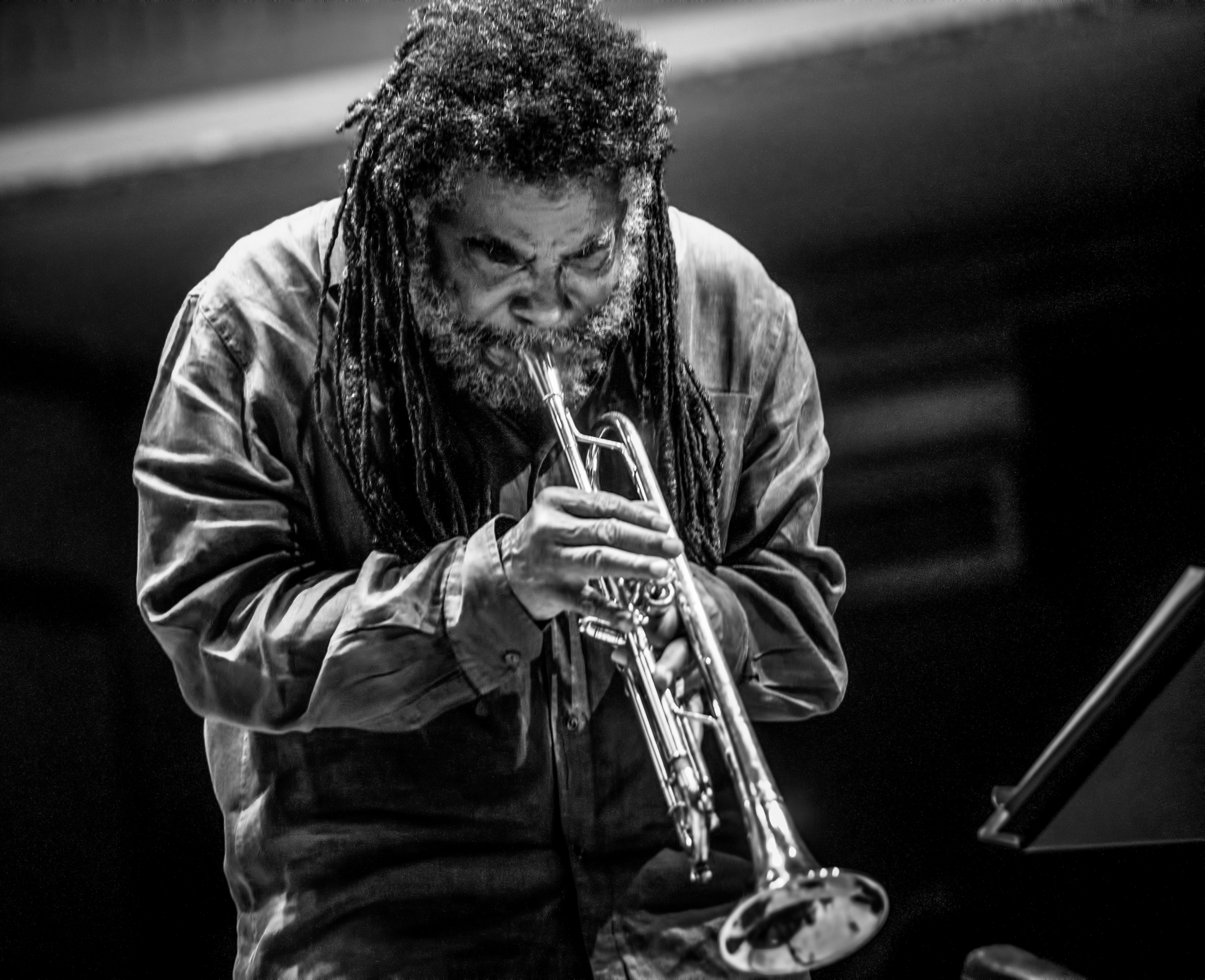 Wadada Leo Smith with Andrew Cyrille and Lebroba At the Vision Festival 2019