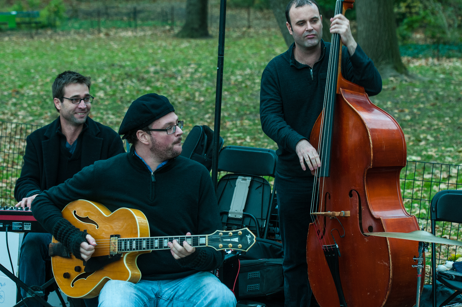 Roy Dunlap, Doug Wamble and Jeff Hanley at Jazz and Colors in Central Park