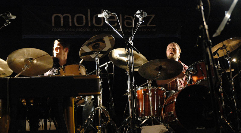 "Erik Nylander and Torstein Lofthus, Ola Kvernberg's ""Liarbird,"" Molde Jazz 2010"