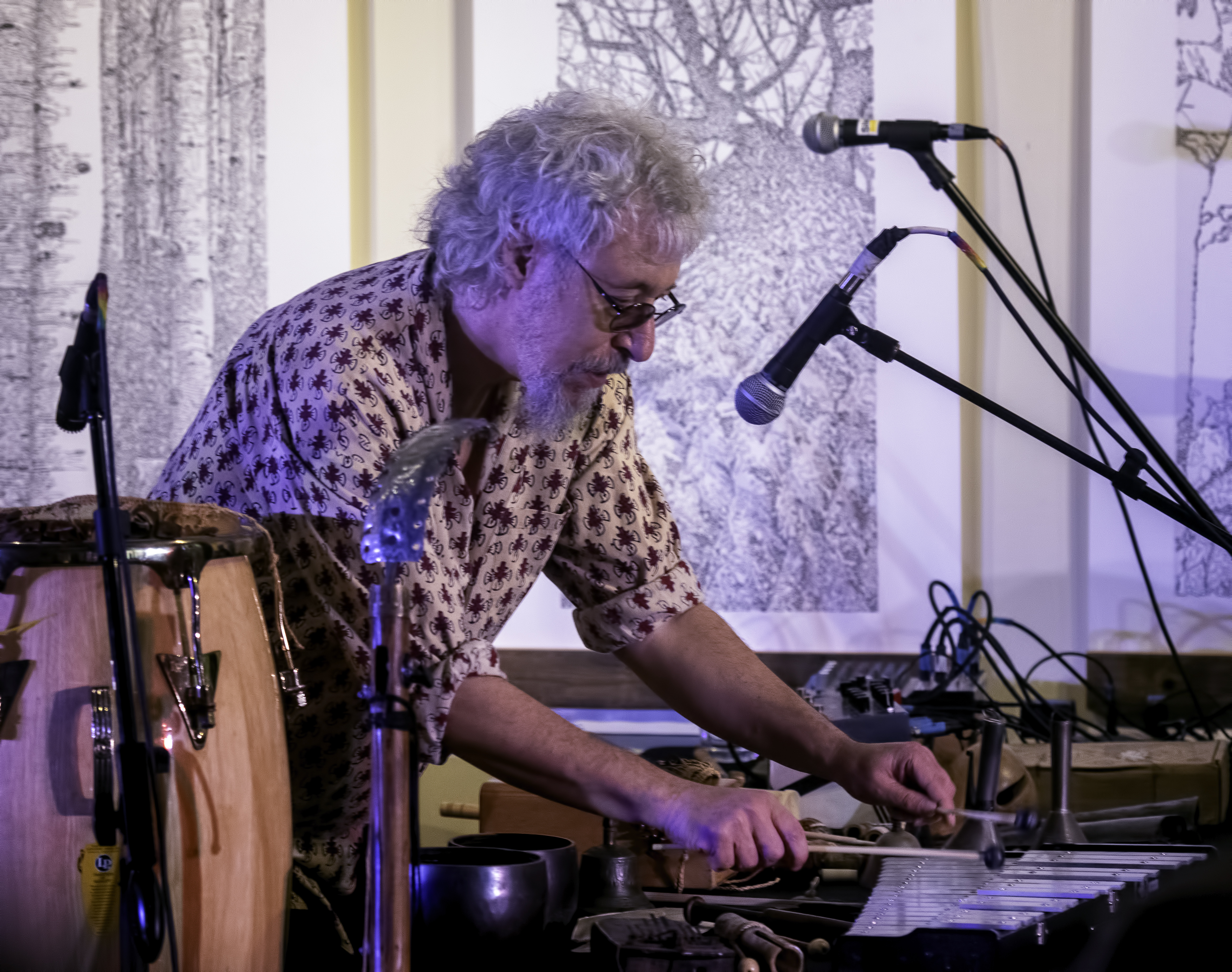 Adam Rudolph with Karuna at the Guelph Jazz Festival 2019