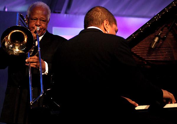 Slide Hampton and Luke O'Reillytd Toronto Jazz Festival 2007