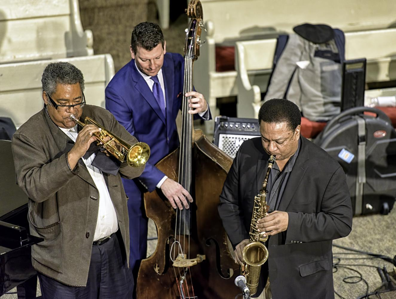 Jon Faddis, John Webber and Vincent Herring At The Jazz Legends For Disability Pride At The NYC Winter Jazzfest 2017