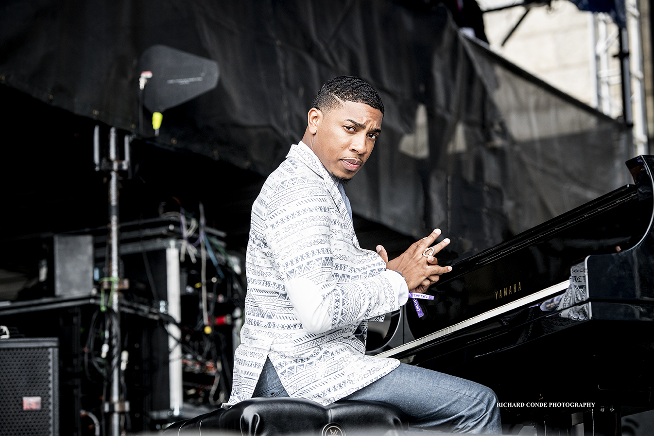 Christian Sands at the 2017 Newport Jazz Festival