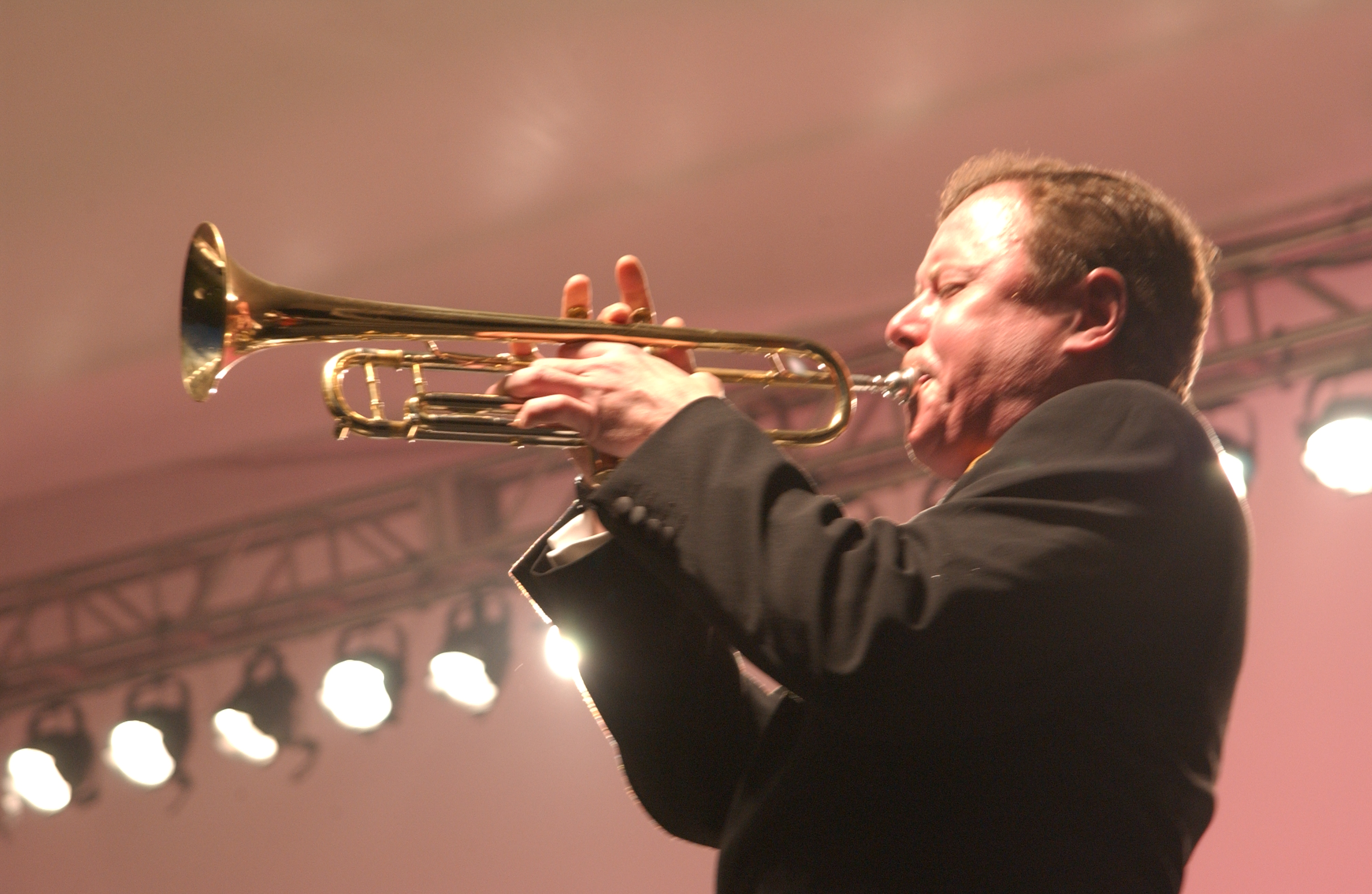 Bob Merrill on trumpet with the Philly Pops