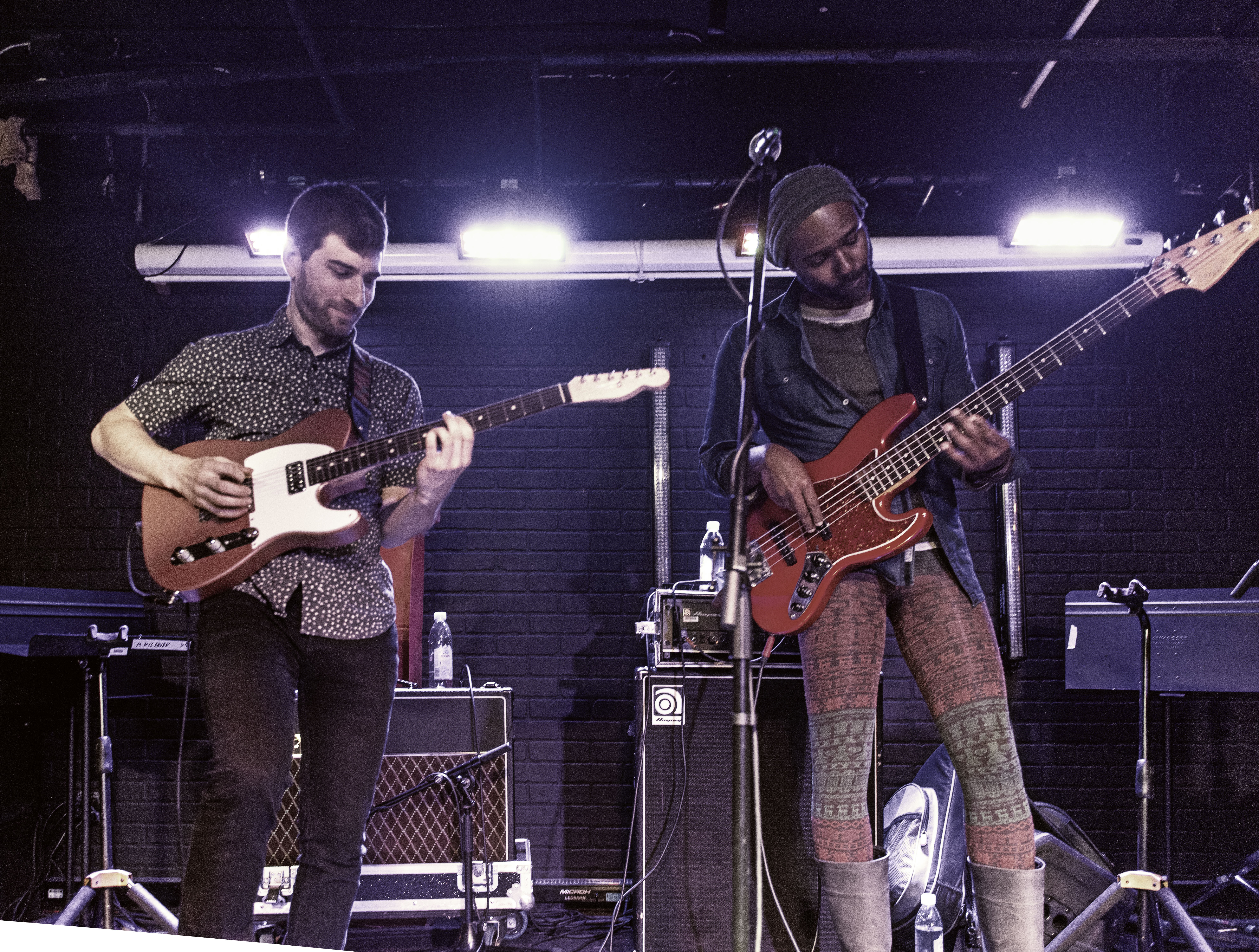 Matt Gold and Junius Paul with Makaya McCraven at the Toronto Jazz Festival 2019