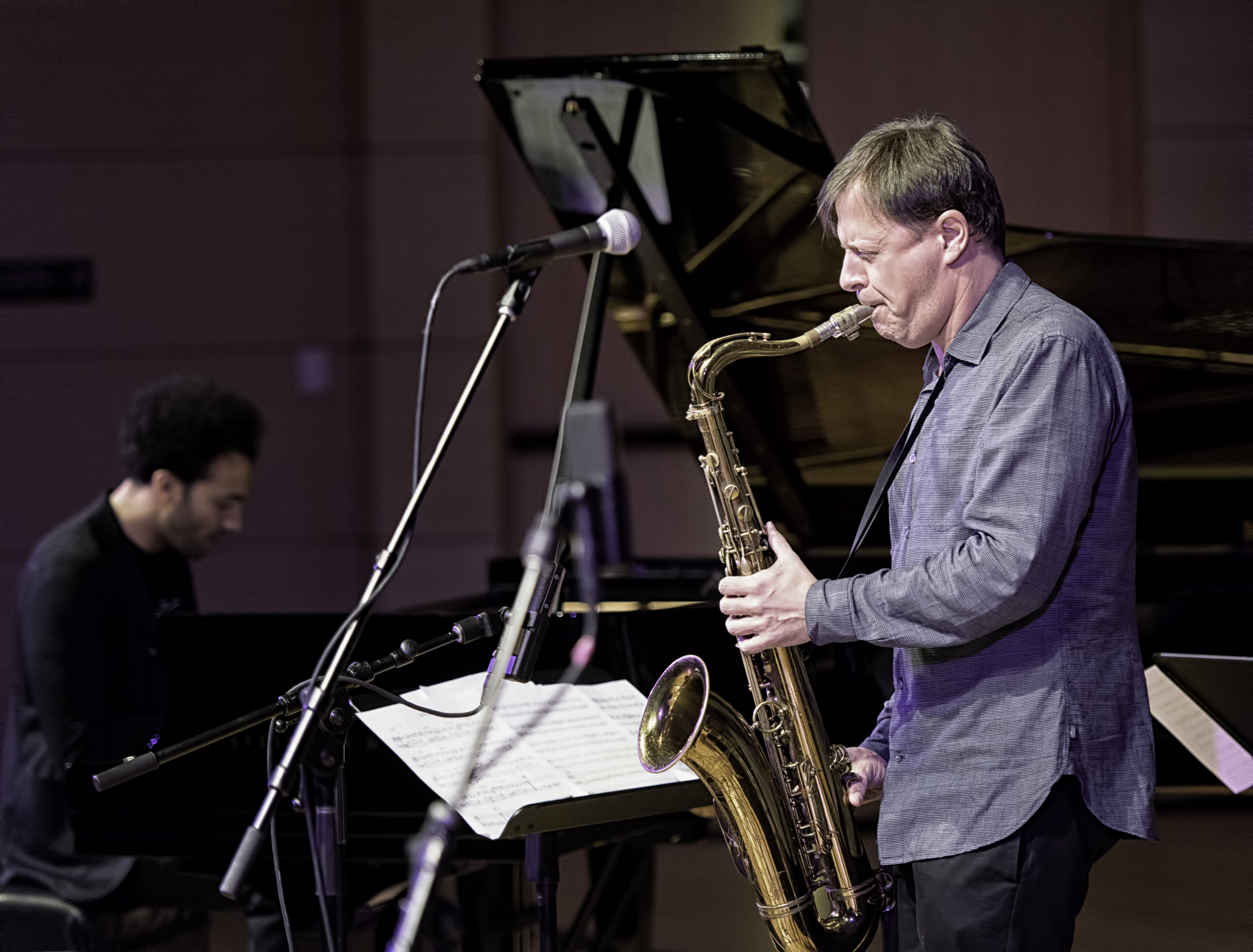 Chris Potter and David Virelles with Chris Potter Quartet At The NYC Winter Jazzfest 2016