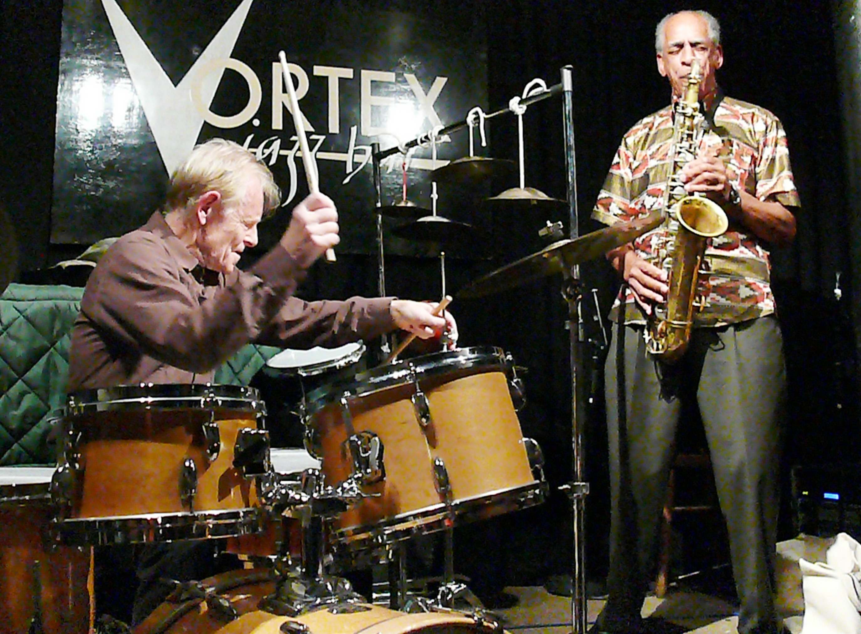 Tony Marsh and John Tchicai at the Vortex, London in October 2011