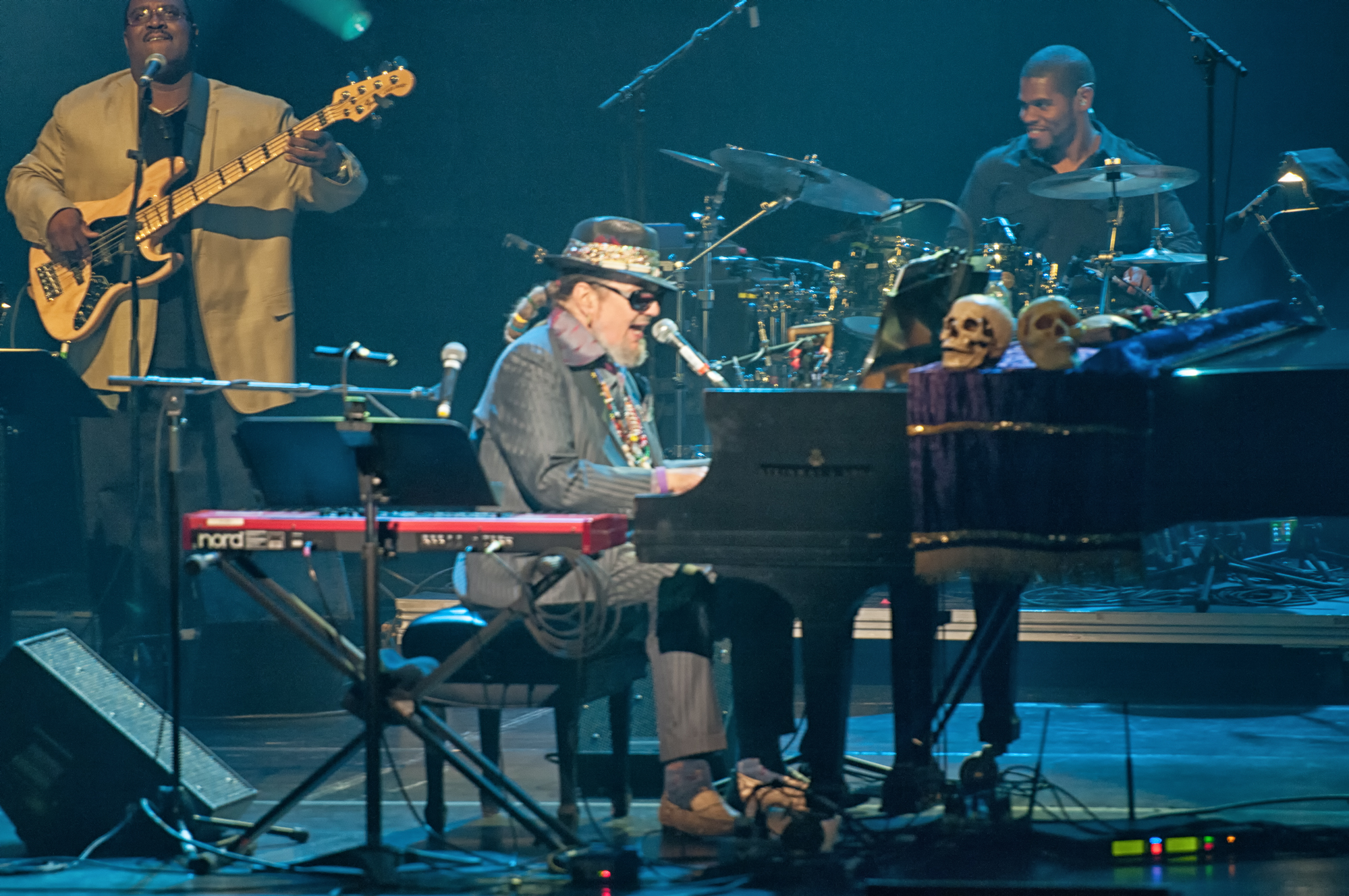Dwight bailey, dr. john and ben brown with dr. john and the nite trippers at the montreal international jazz festival 2013