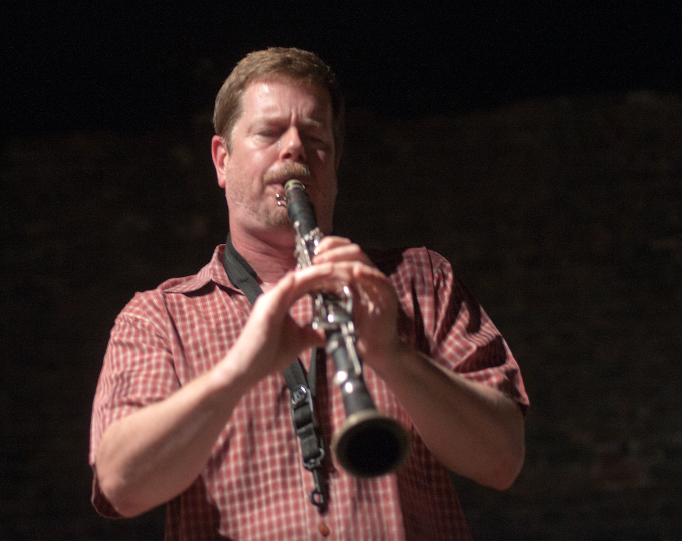 Ken Vandermark with Chad Taylor at the Stone