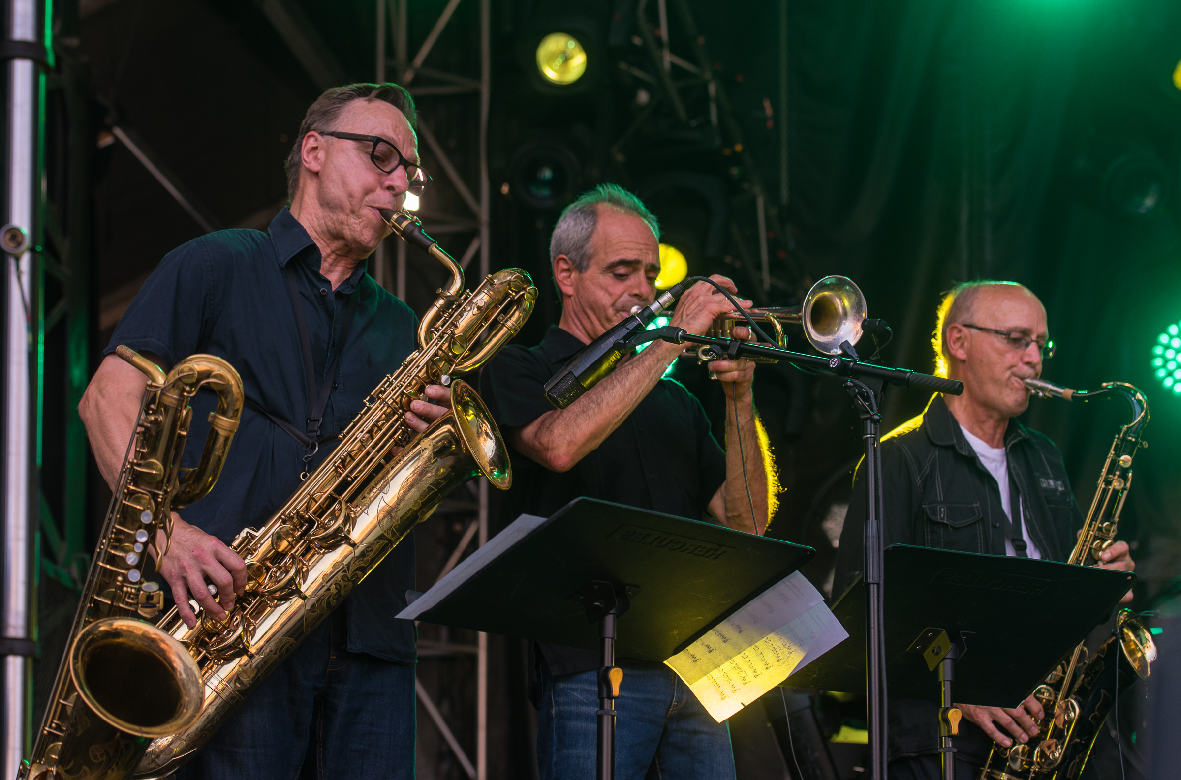 Ron Dilauro, Jean Frechette And Richard Beaudet With Jerry Granelli At The Montreal International Jazz Festival 2018