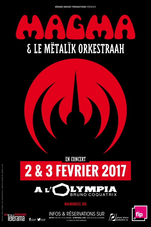 French Music Legends Magma To Perform With The Mëtalïk Orkestra At The Olympia In Paris - February 2 & 3, 2017