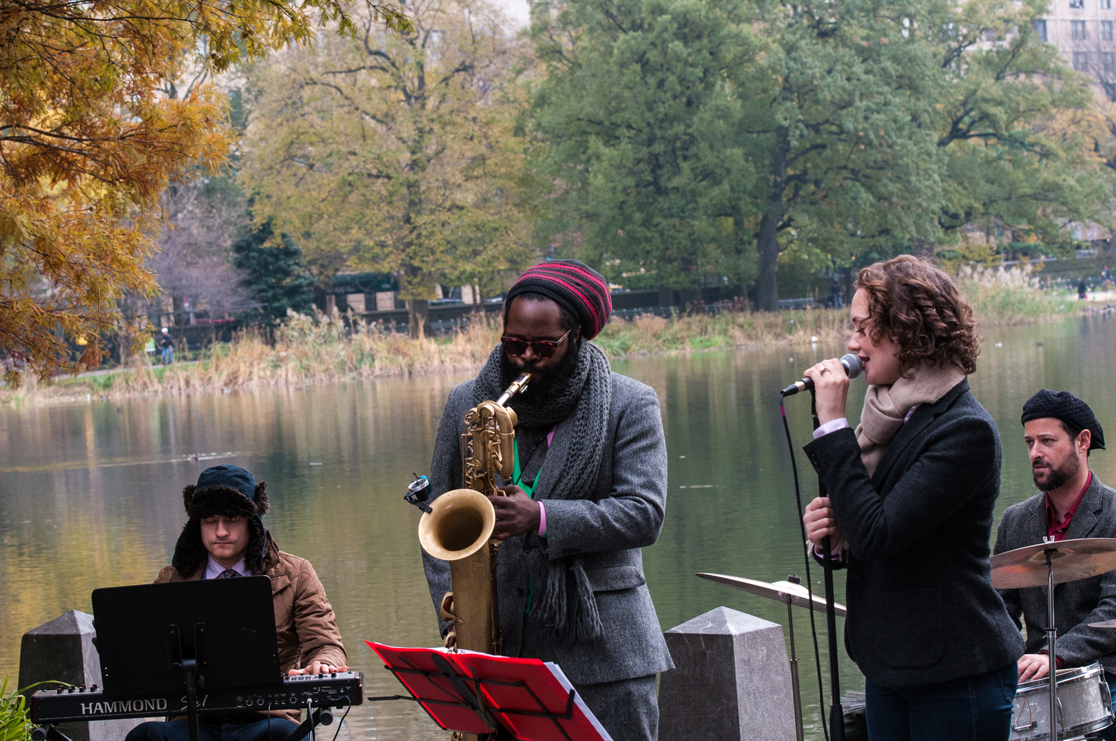 Andre Pivec, Jason Marshall and Haley Gardner at Jazz and Colors in Central Park