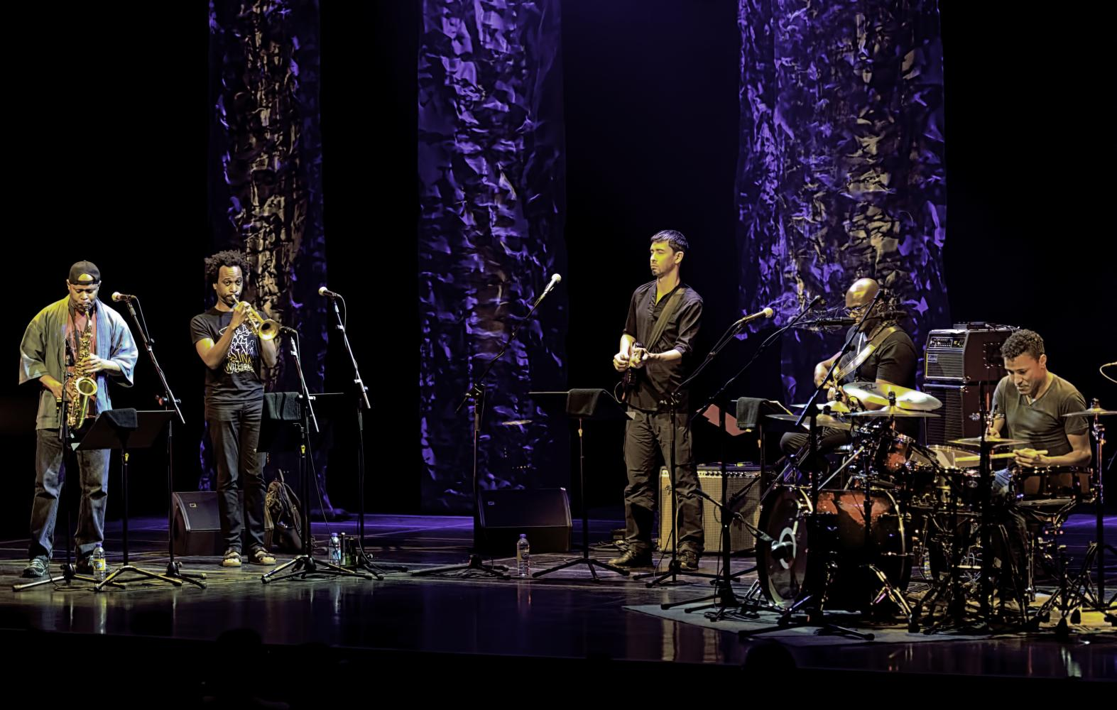 Steve Coleman, Jonathan Finlayson, Miles Okazaki, Anthony Tidd And Sean Rickman With Five Elements At The Montreal International Jazz Festival 2016