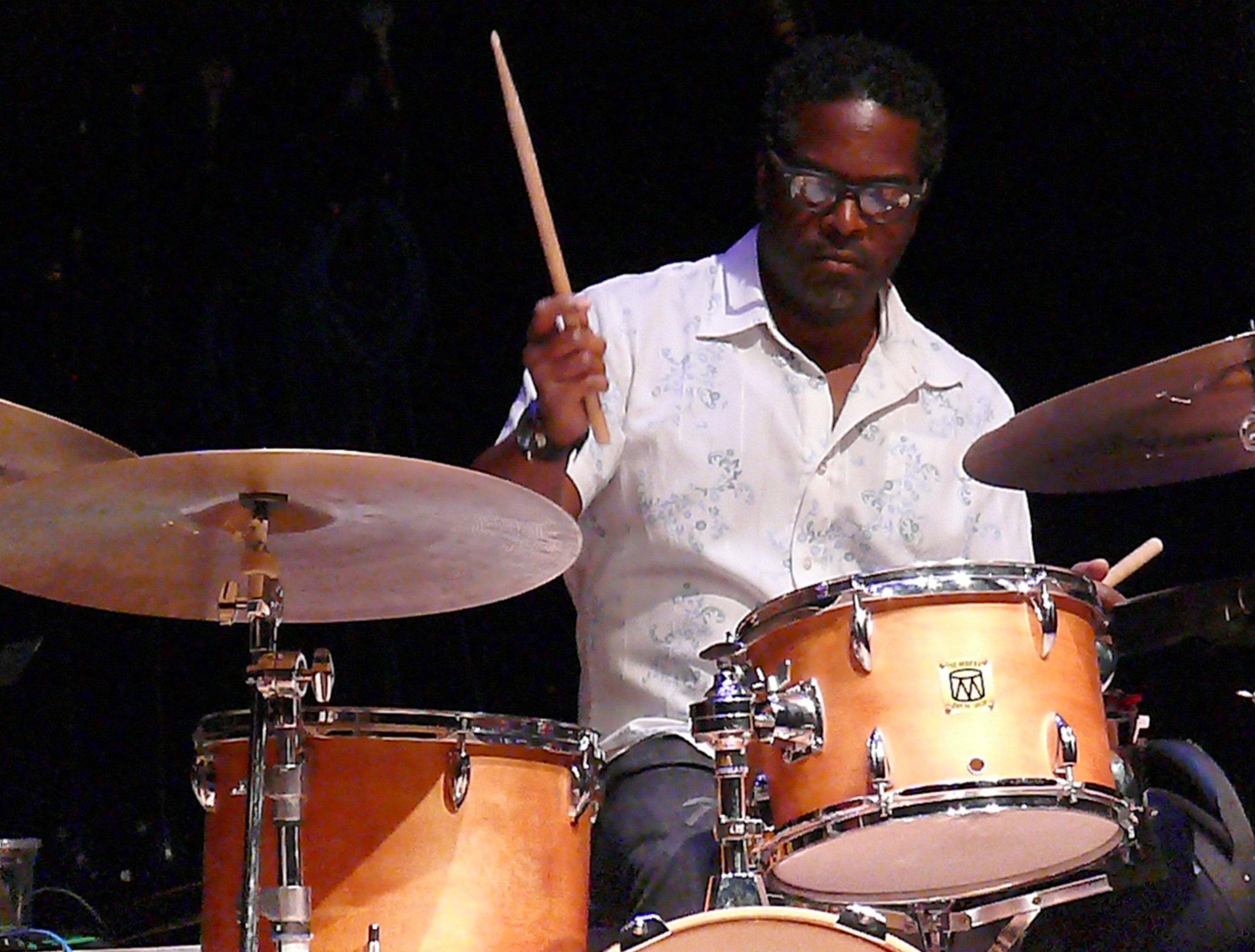 Gerald cleaver at the vision festival, new york in june 2013