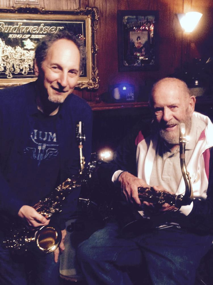 Dan & jazz legend Dave Pell, 91 years old and still playing great!