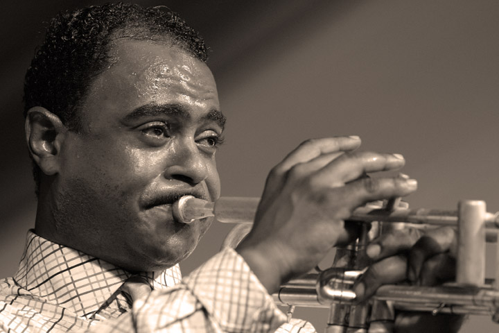 Marlon Jordan at the New Orleans Jazz and Heritage Festival 2005