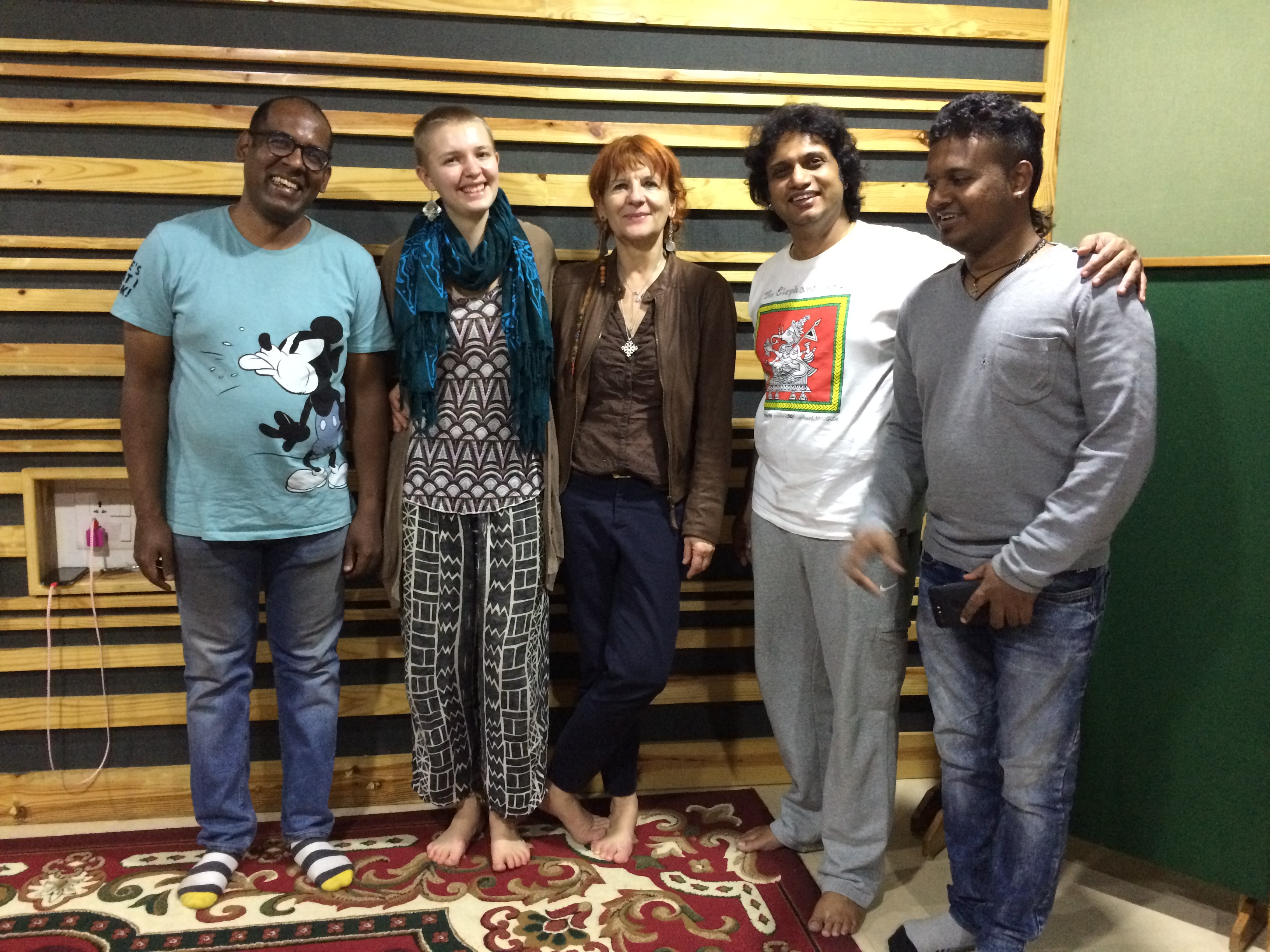 recording session in Bangalore