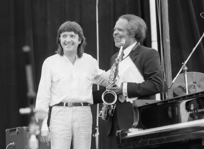Howard Riley Jaki Byard 0324229 First Pendley Int. Jazz Fest., UK July 1985 Images of Jazz
