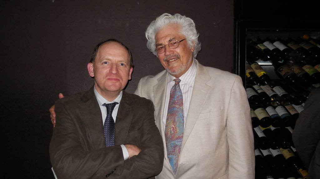 Martin with Larry Coryell, in 2014, Tokyo Blue Note