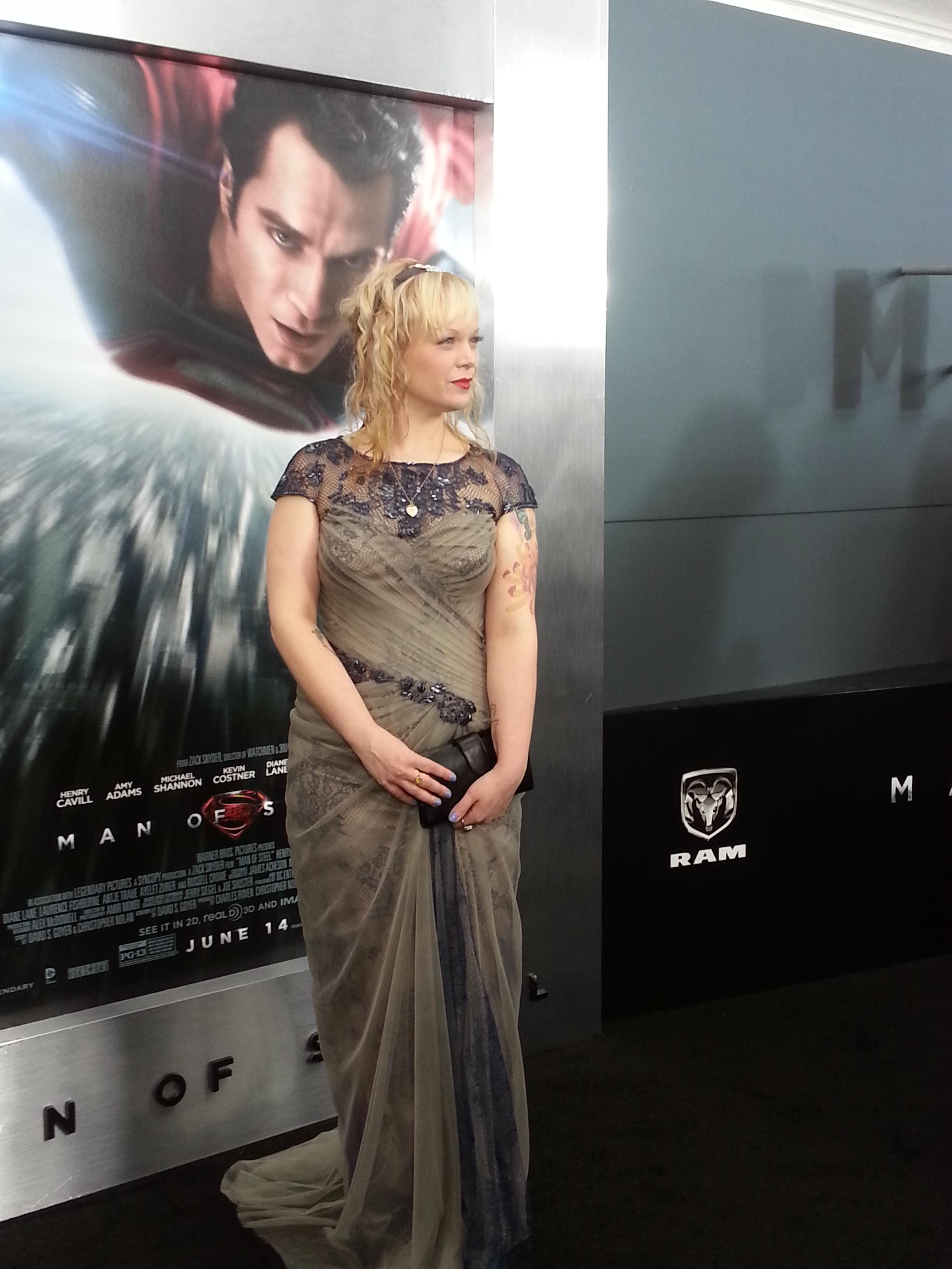 Allison Crowe - Man of Steel World Premiere, New York City