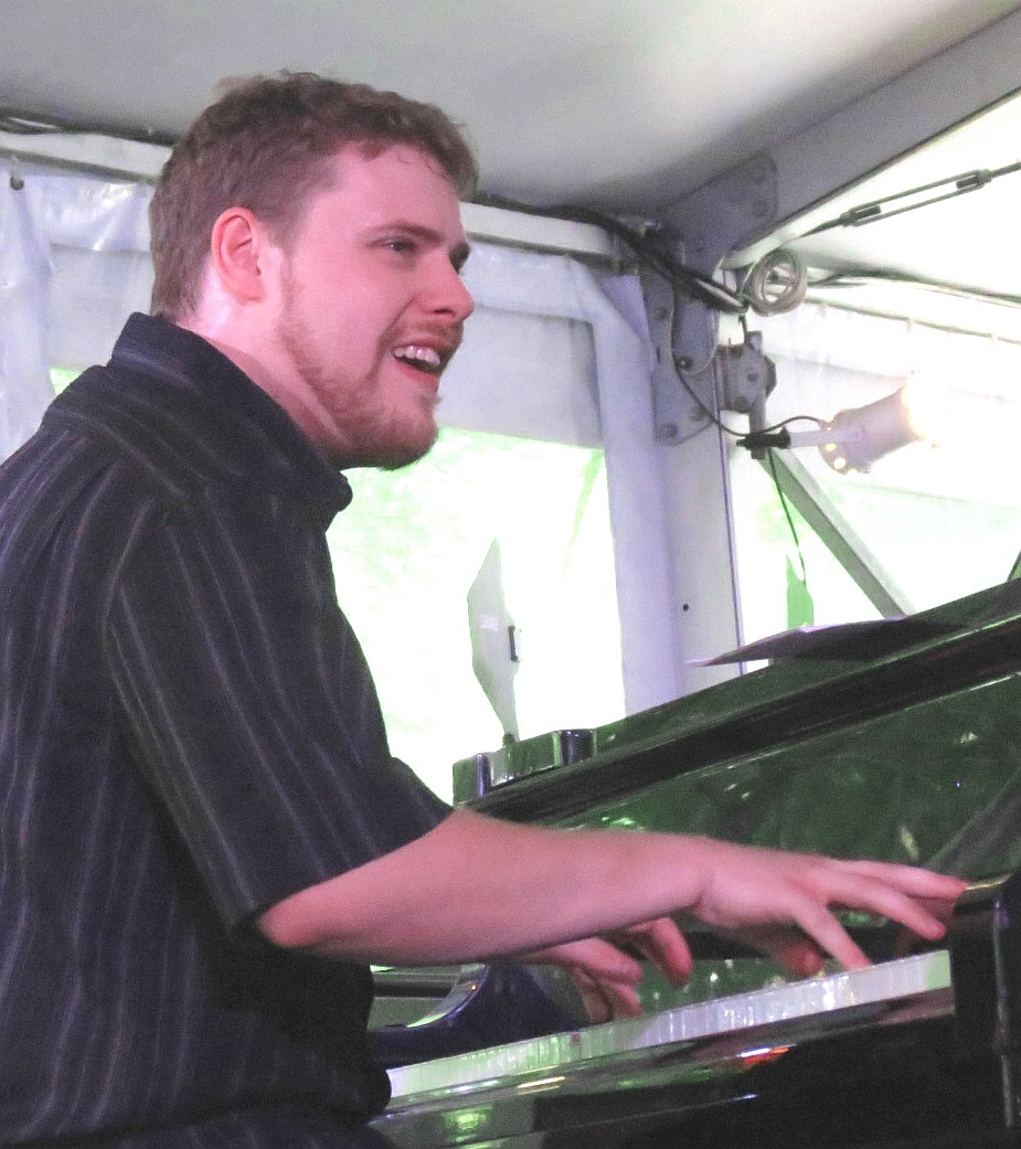 Joe ashlar with evan christopher and clarinet road at 2013 chicago jazz festival