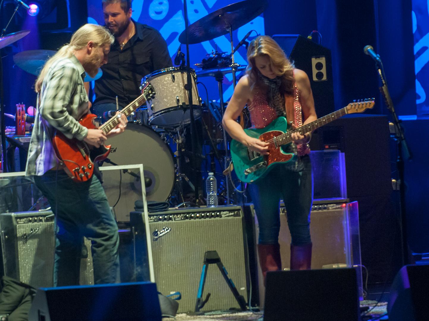 Derek Trucks, Susan Tedeschi and Tyler Greenwell with the Tedeschi Trucks Band at the Beacon