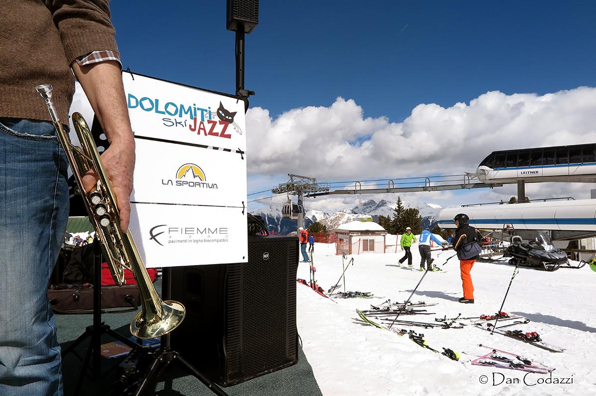 trumpet in Dolomiti ski jazz 2018