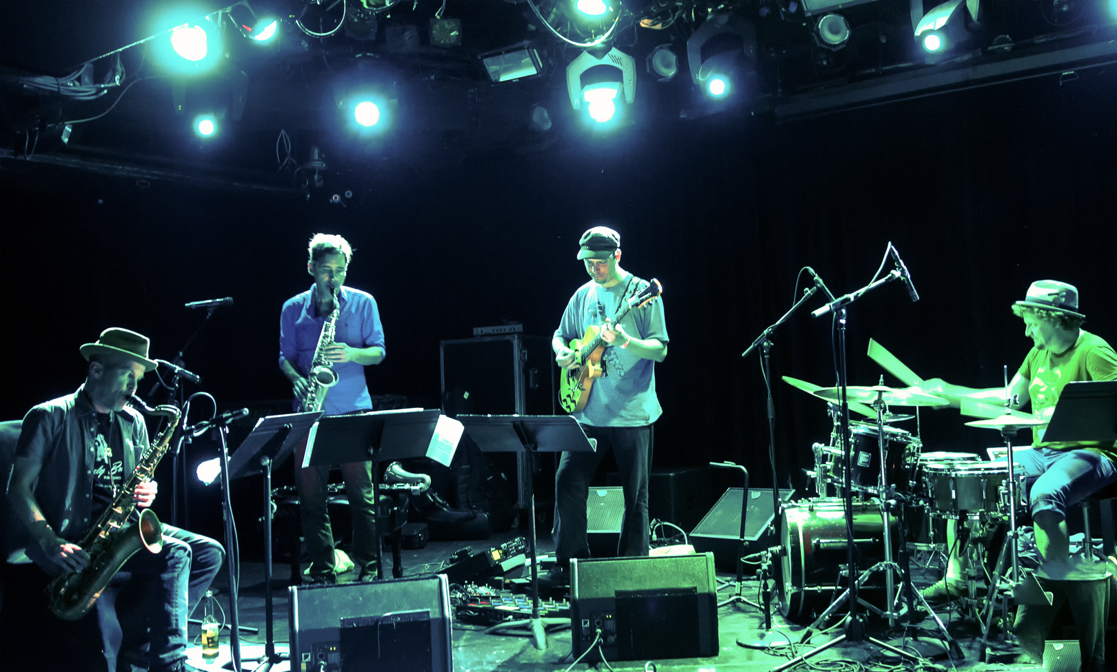Chris Speed, Andrew D'angelo, Kurt Rosenwinkel And Jim Black With Human Feel At Le Poisson Rouge In Nyc