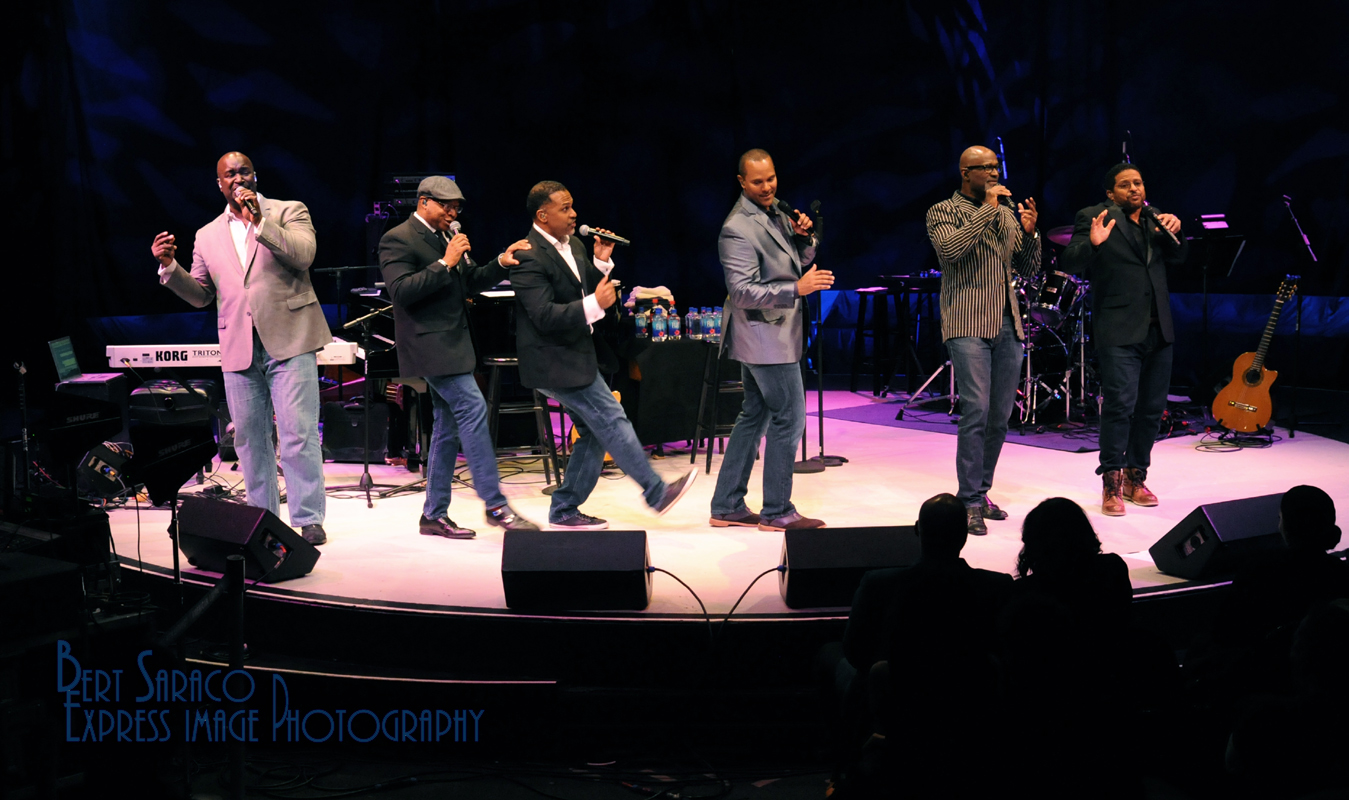 Take 6 onstage in NY