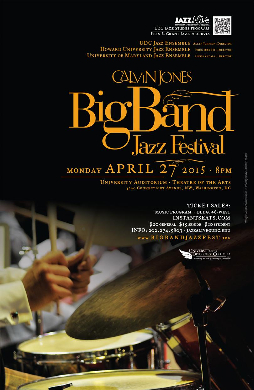 Calvin Jones Big Band Jazz Festival - Monday, April 27, 2015, 8:00pm