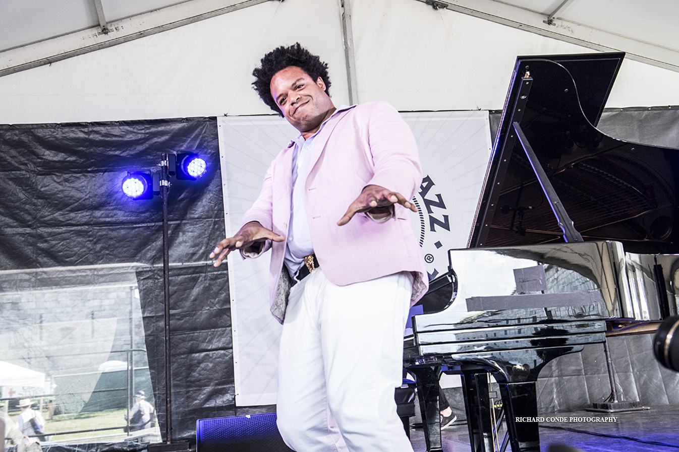 "Eric Lewis at the 2019 Newport Jazz Festival"" by Richard"