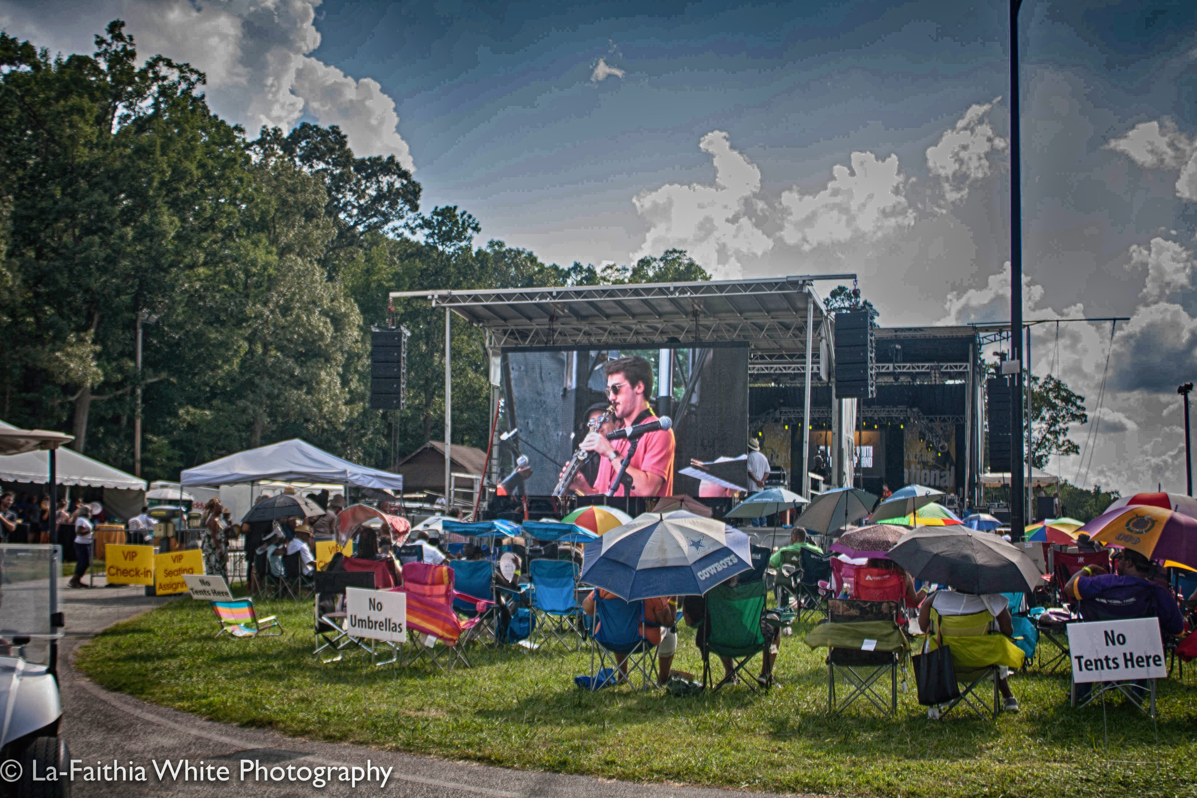 Crowd At The 8th Annual John Coltrane International Jazz And Blues Festival