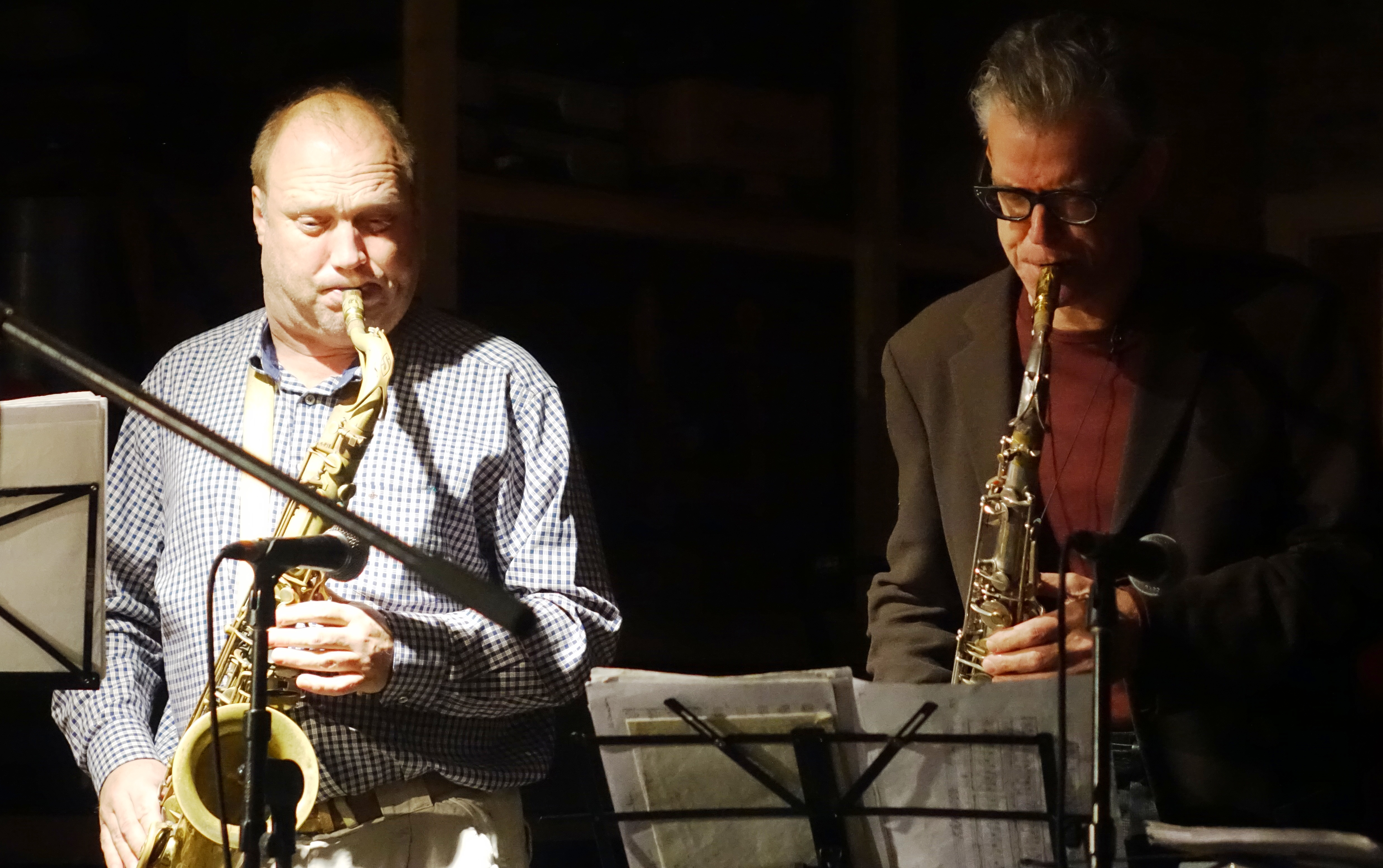 Tobias Delius and Ab Baars at Cafe Oto, London in December 2018
